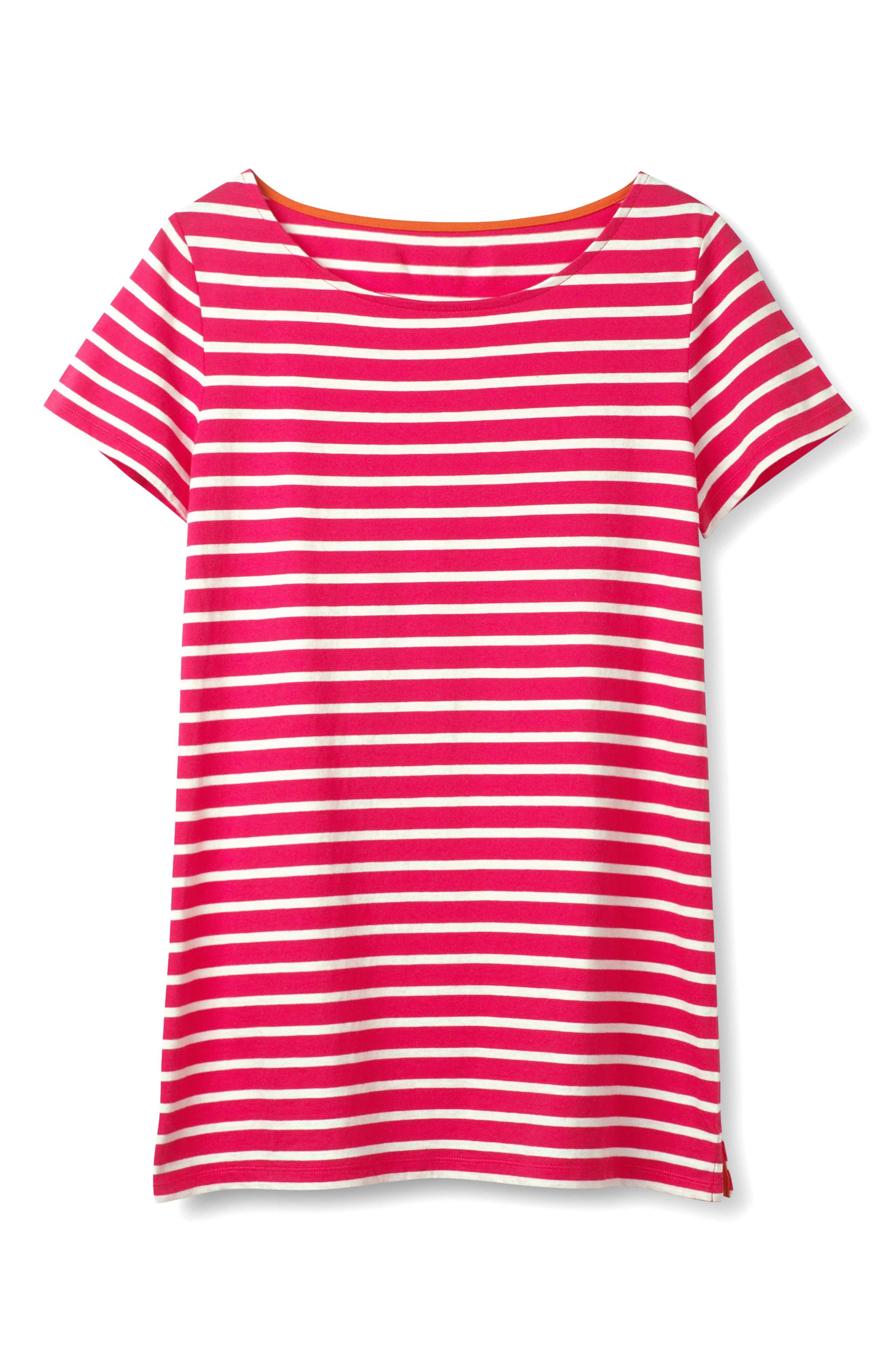 Breton Short Sleeve Stripe Cotton Top,                             Alternate thumbnail 13, color,