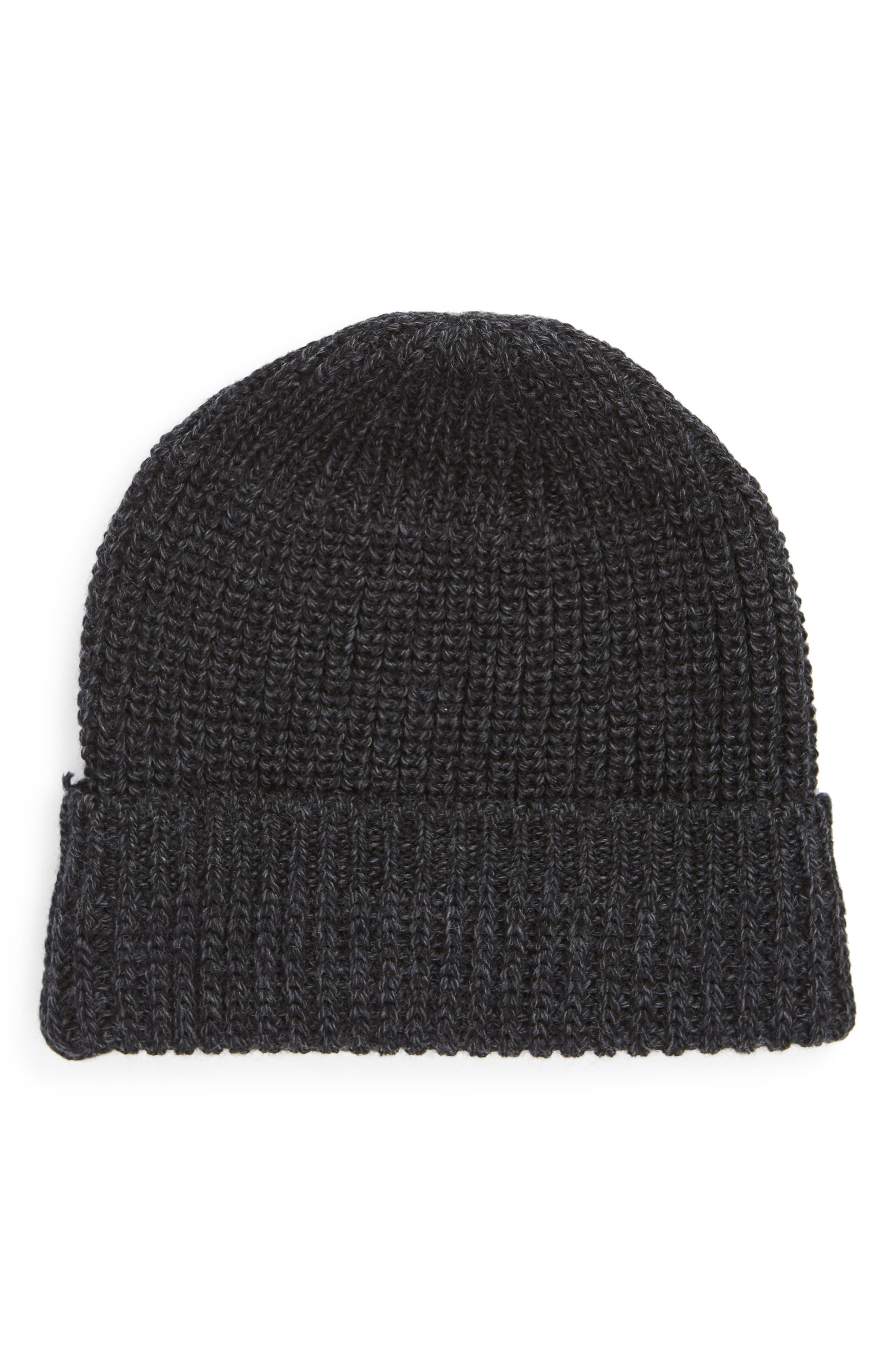 Knit Wool Beanie,                         Main,                         color, CHARCOAL