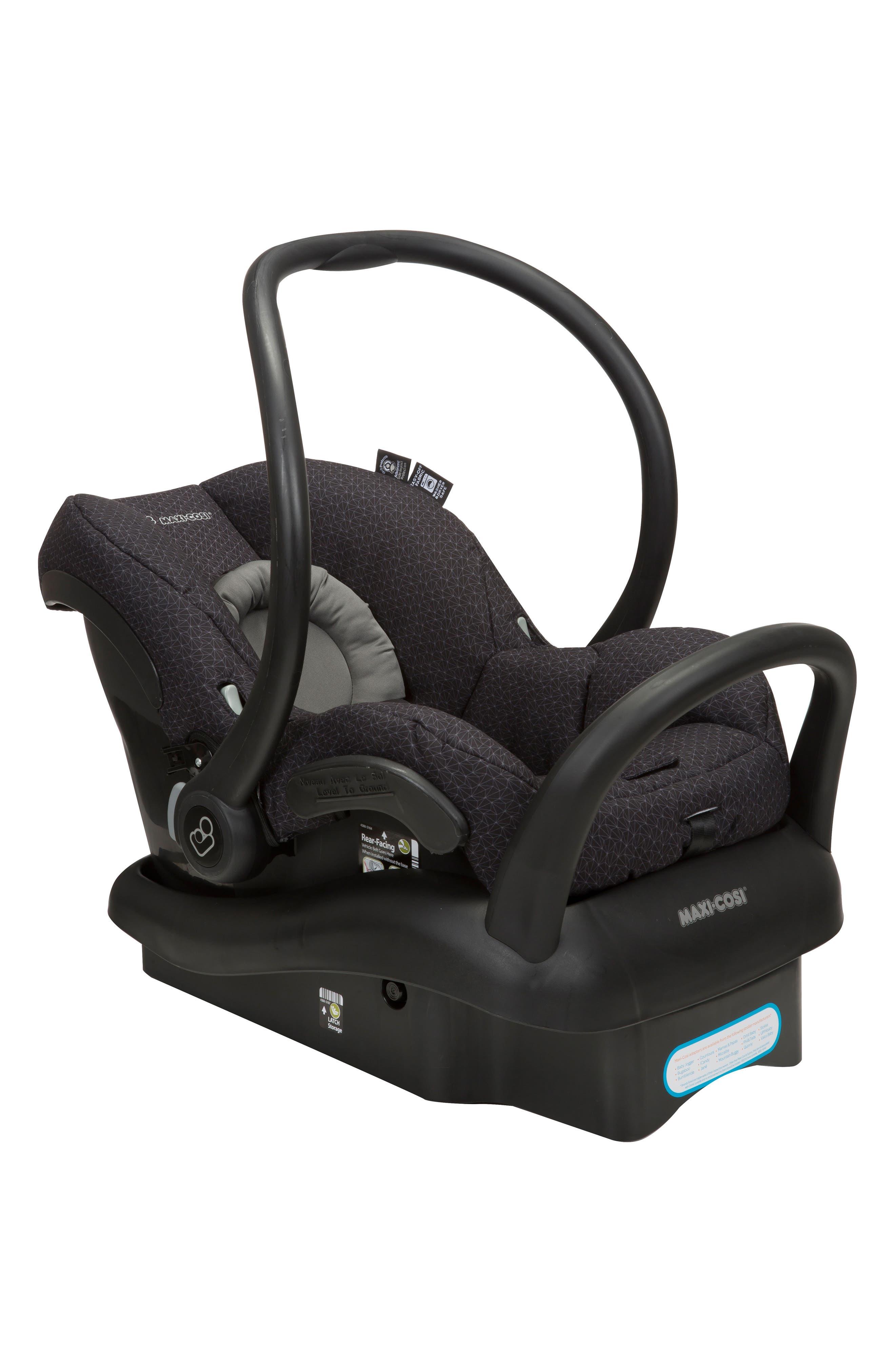 Mico Max 30 Infant Car Seat,                             Alternate thumbnail 4, color,                             BLACK CRYSTAL