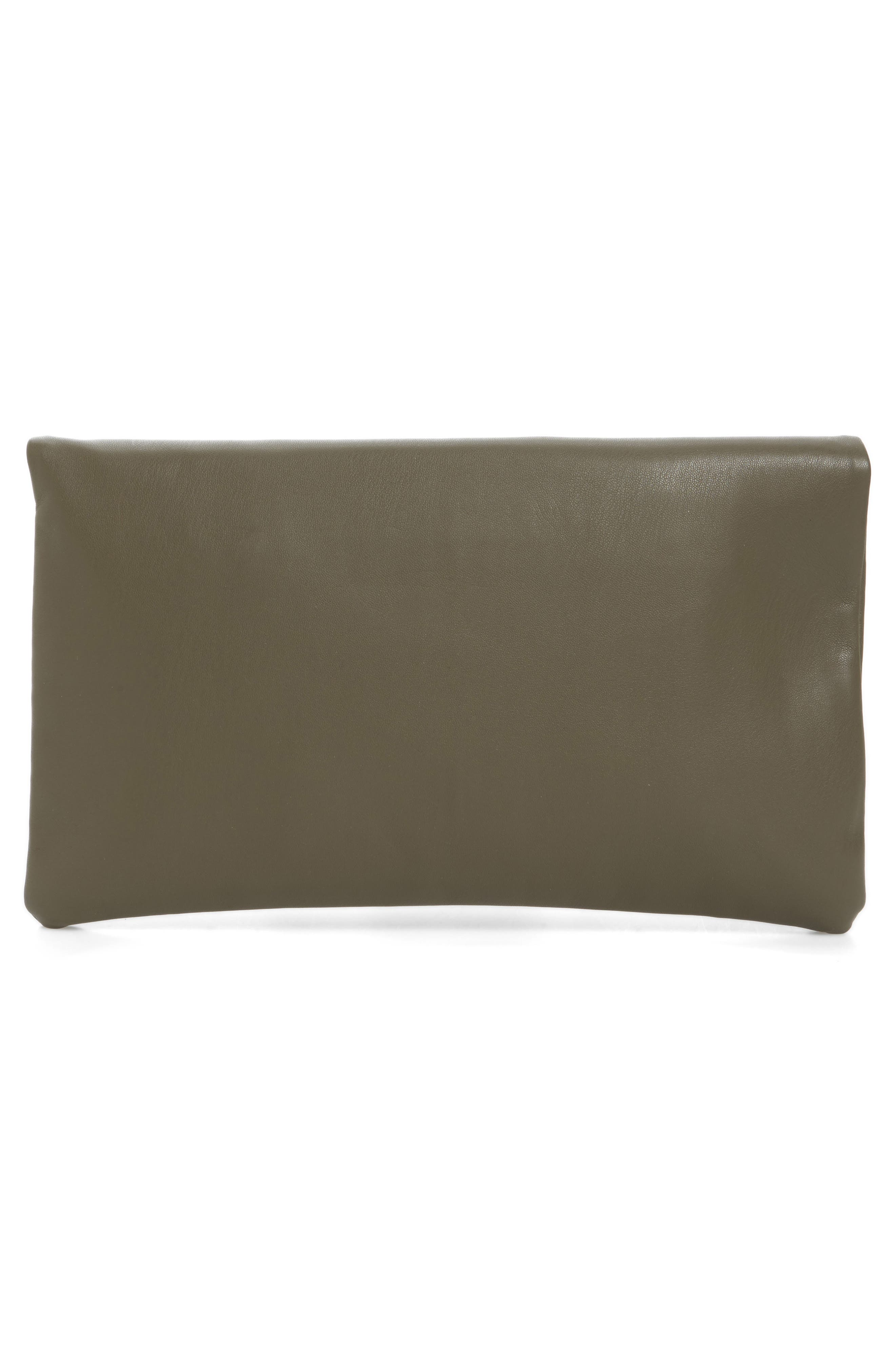 Melrose Faux Leather Clutch,                             Alternate thumbnail 8, color,