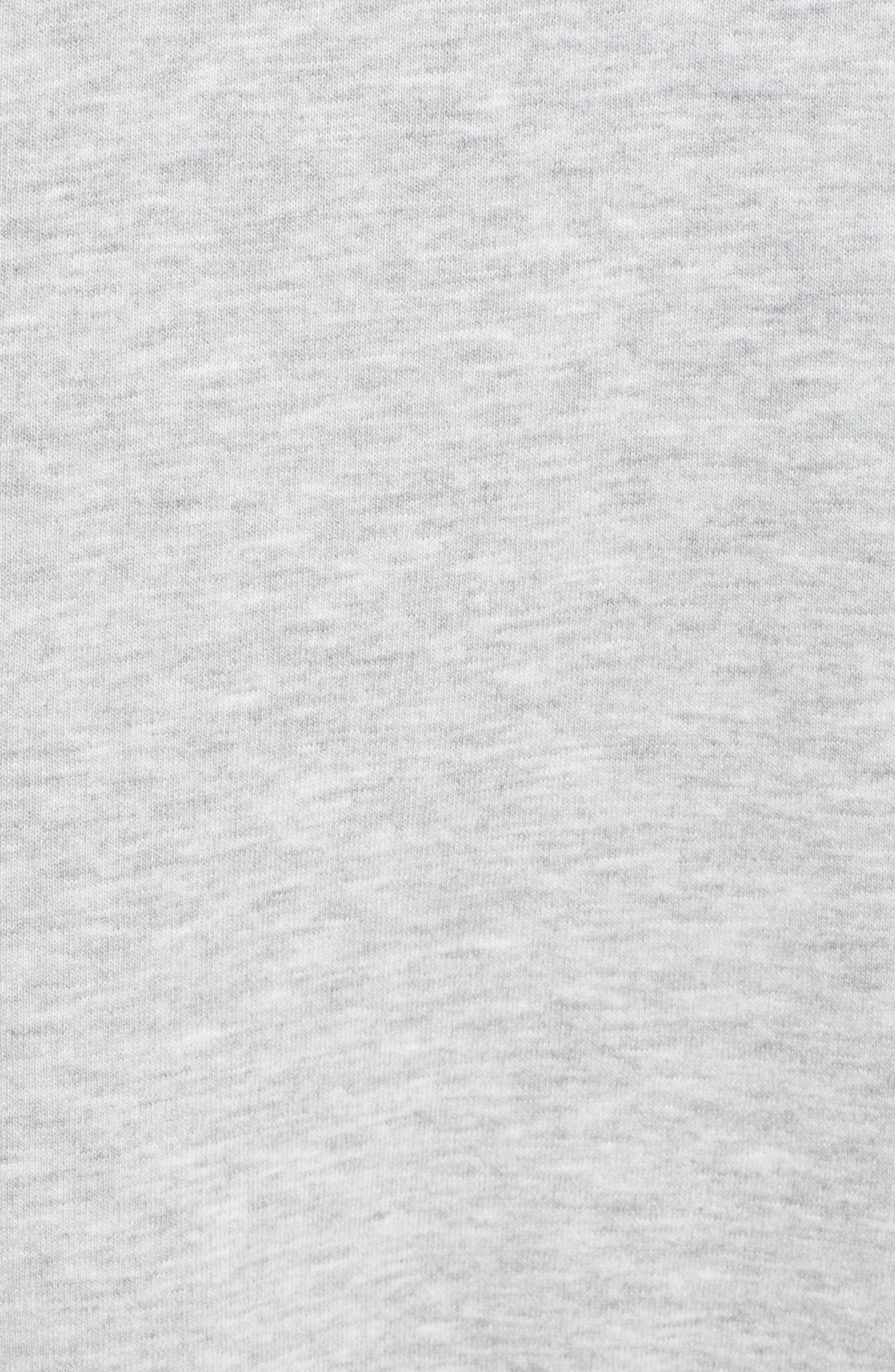 Layered Logo Sweatshirt Dress,                             Alternate thumbnail 6, color,                             020