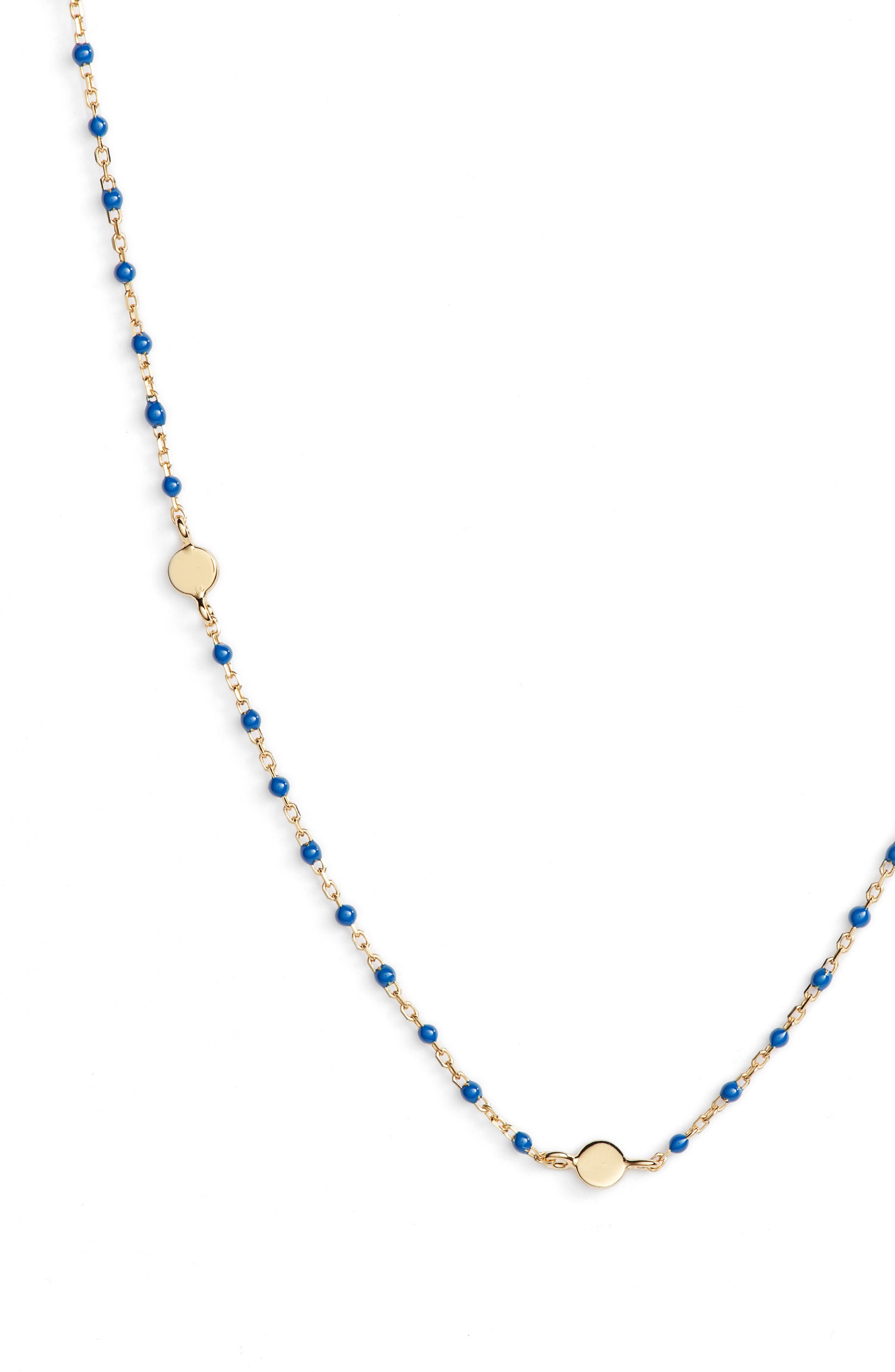 Beaded Station Necklace,                             Alternate thumbnail 5, color,