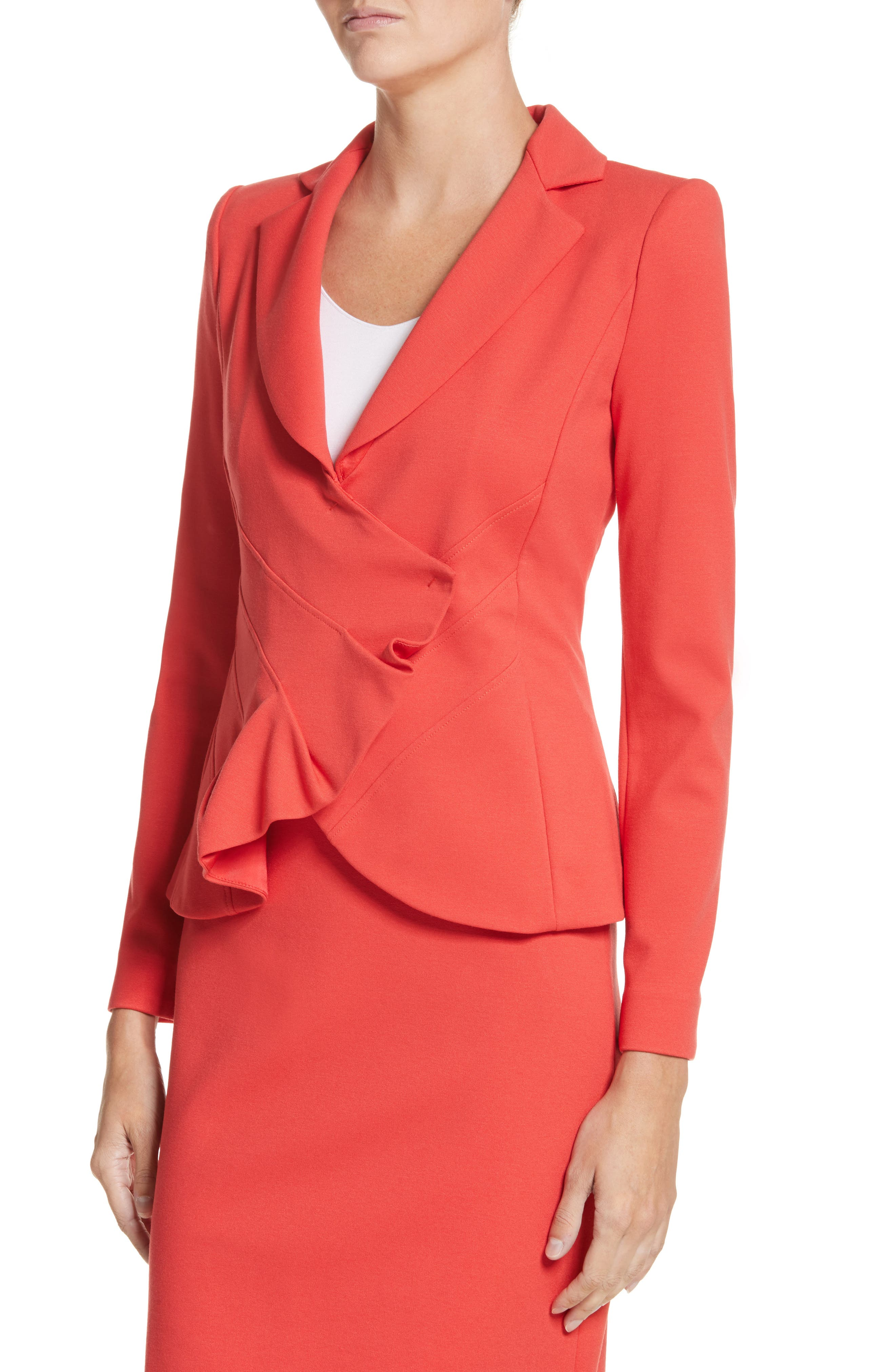 Asymmetrical Pleated Front Jacket,                             Alternate thumbnail 8, color,