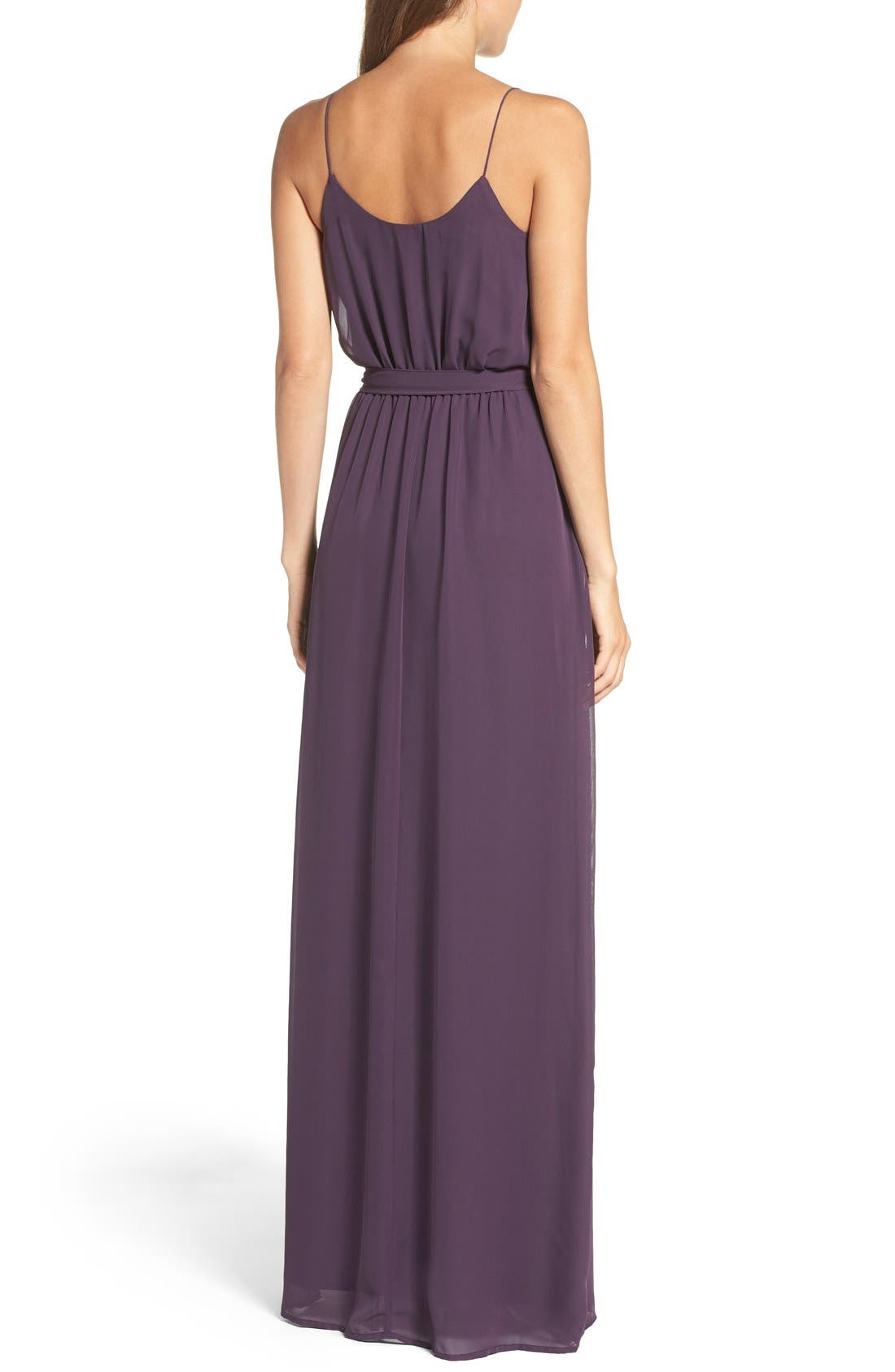 'Drew' Ruffle Front Chiffon Gown,                             Alternate thumbnail 51, color,