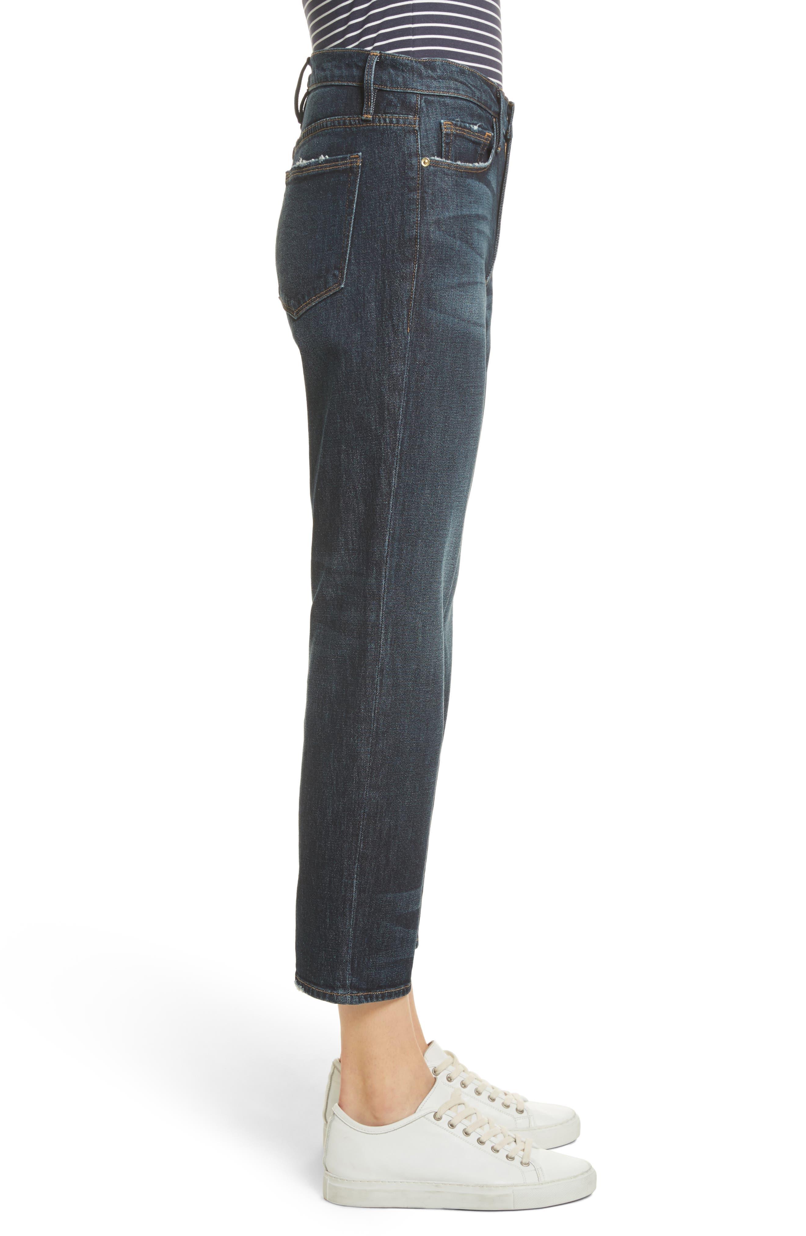Straight Leg Ankle Jeans,                             Alternate thumbnail 3, color,                             402