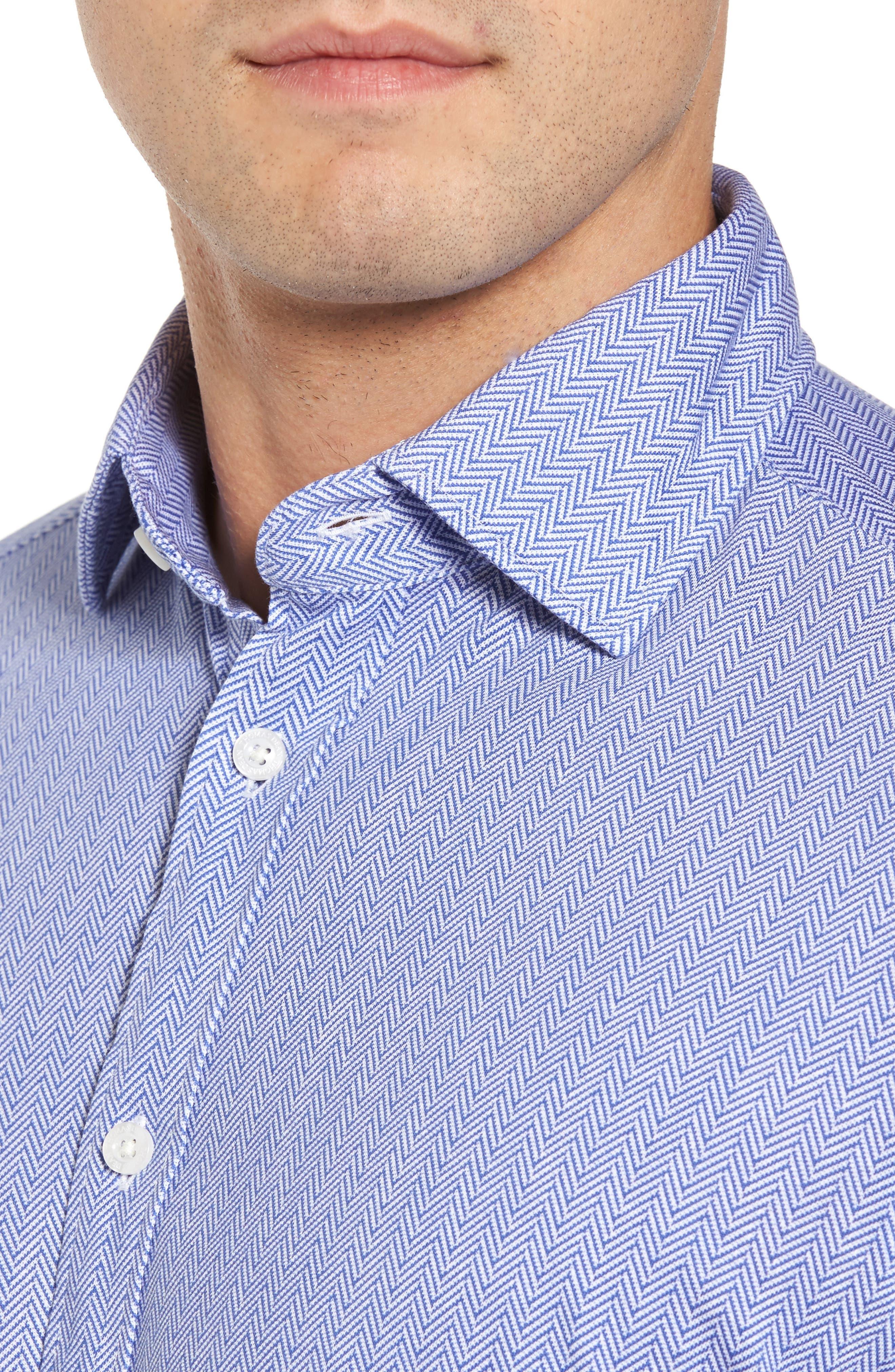 Herringbone Knit Sport Shirt,                             Alternate thumbnail 4, color,                             400