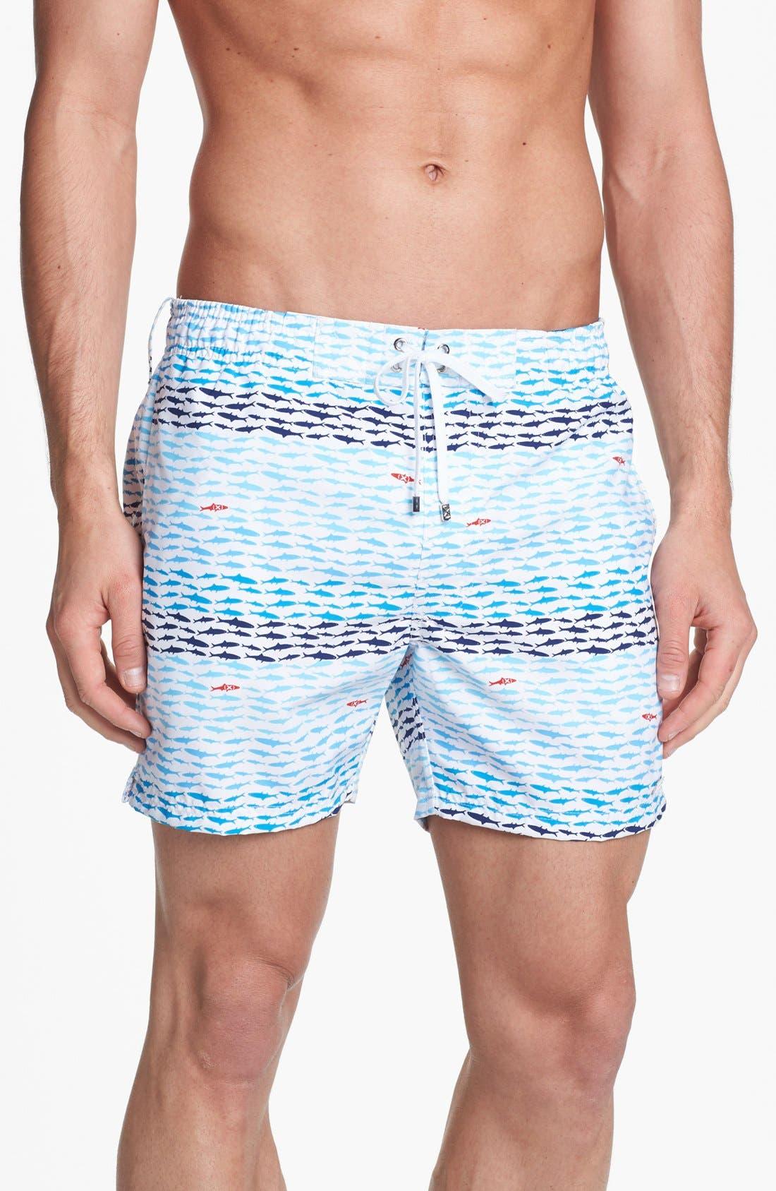 'Hampton' Swim Trunks, Main, color, 100