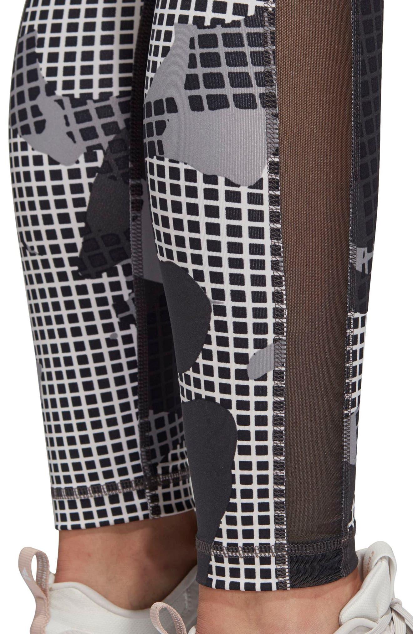 Heatracer Leggings,                             Alternate thumbnail 8, color,                             BLACK/ PRINT