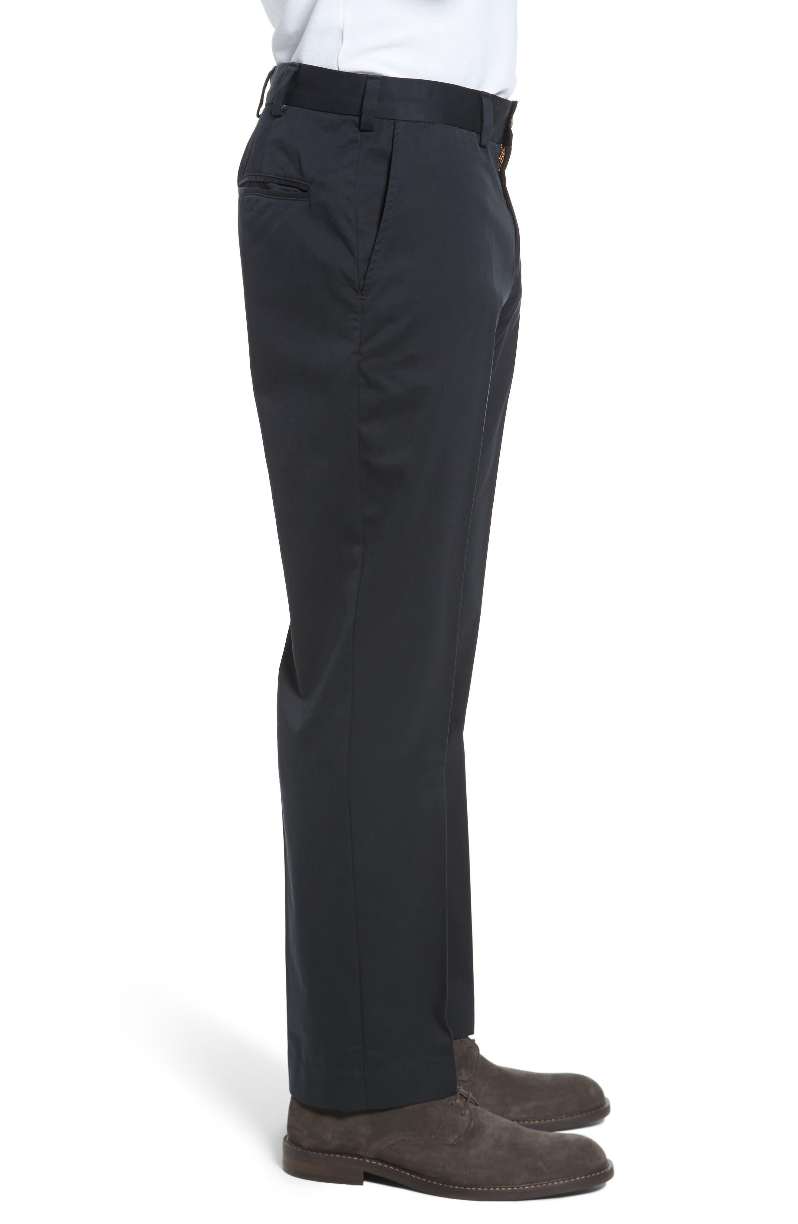Straight Fit Chamois Cloth Pants,                             Alternate thumbnail 3, color,                             BLACK