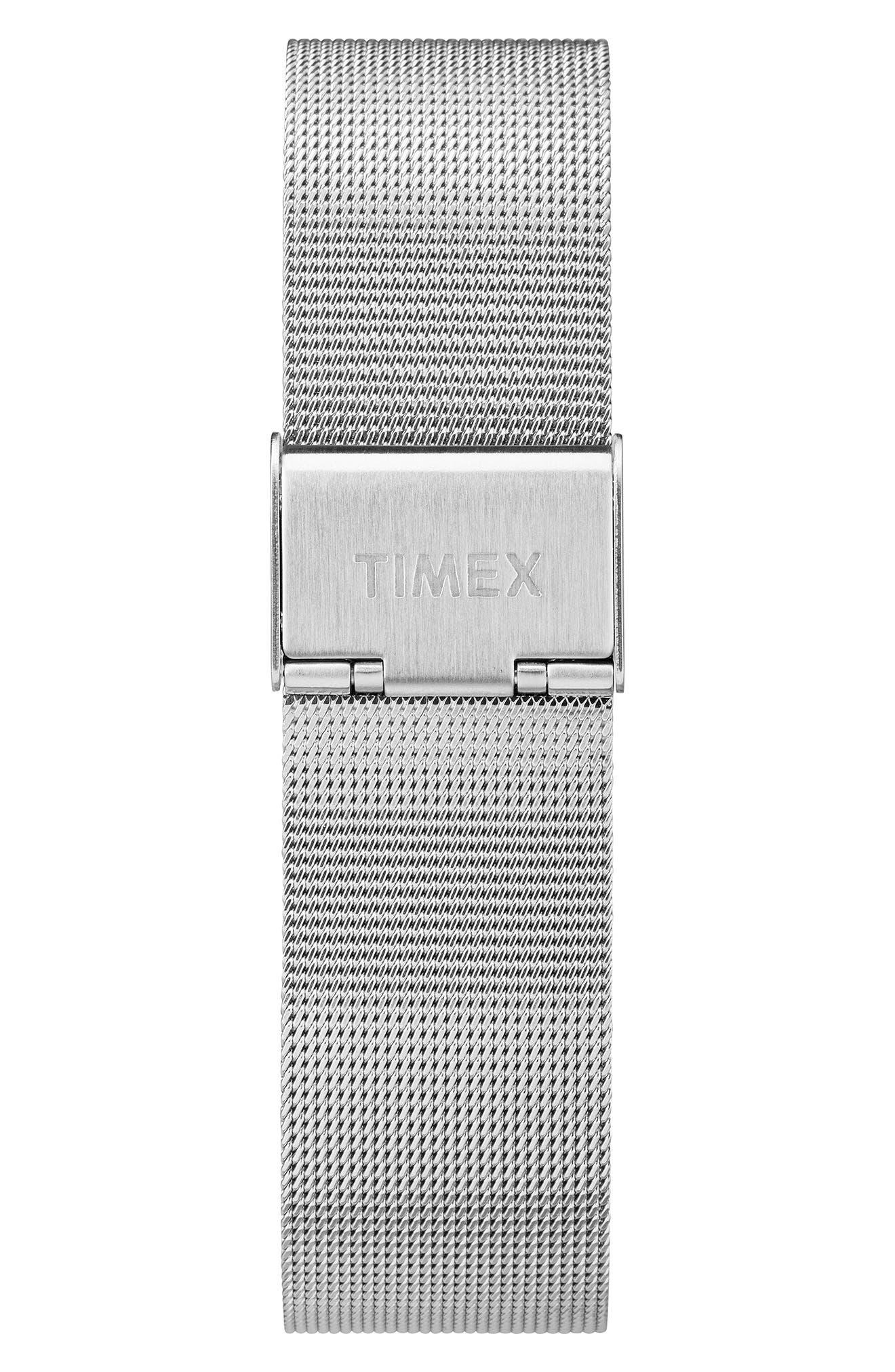 Waterbury Mesh Strap Watch, 40mm,                             Alternate thumbnail 2, color,                             SILVER/ BLACK/ SILVER