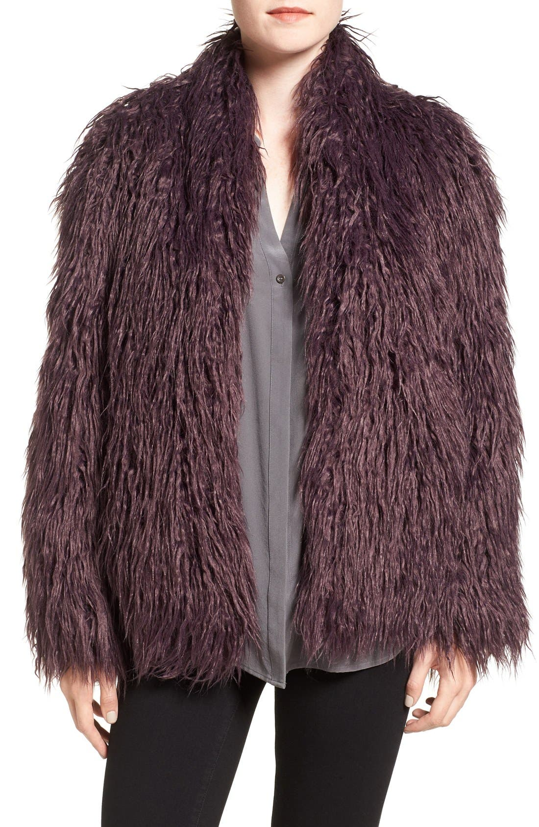 Shaggy Faux Fur Jacket,                             Main thumbnail 2, color,