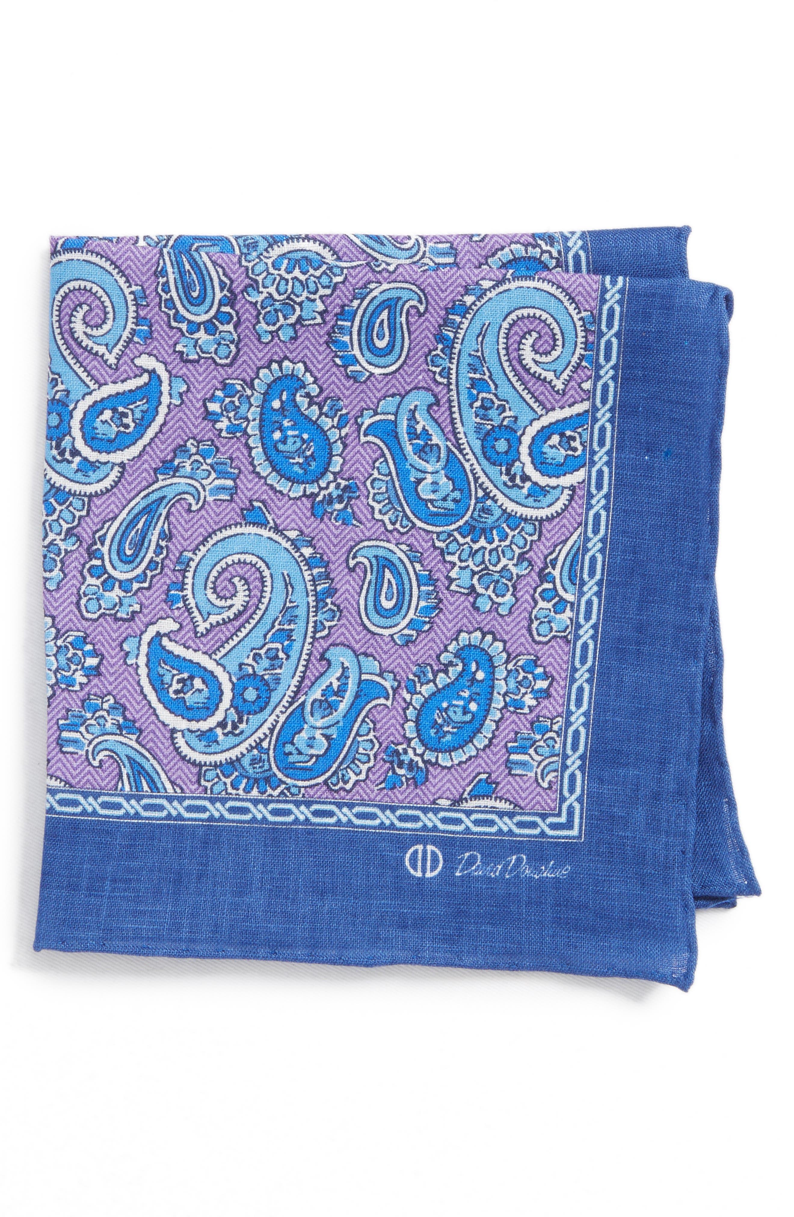 Paisley Silk Pocket Square,                             Main thumbnail 1, color,                             500