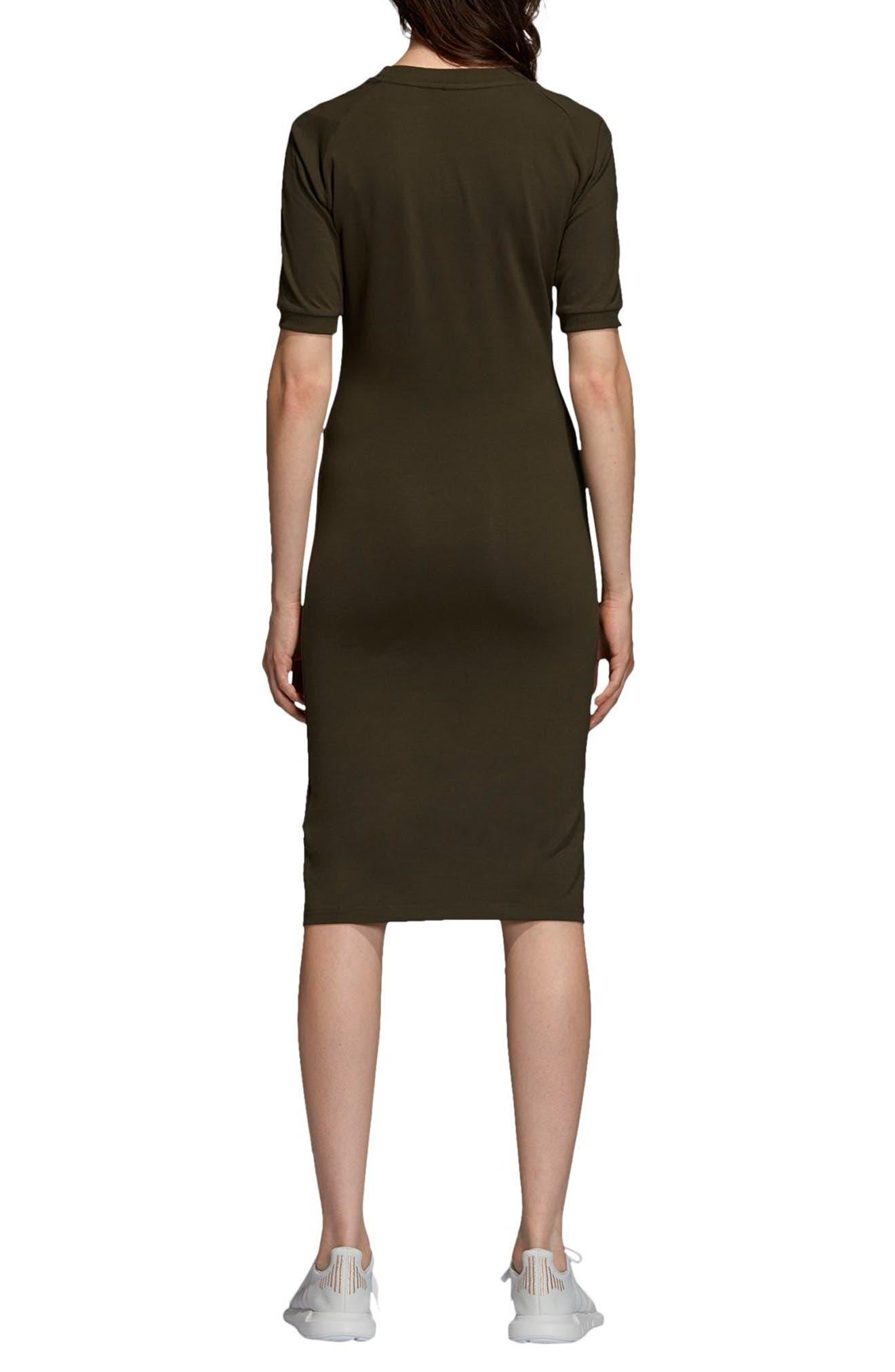 adidas 3-Stripes Dress,                             Alternate thumbnail 2, color,                             NIGHT CARGO