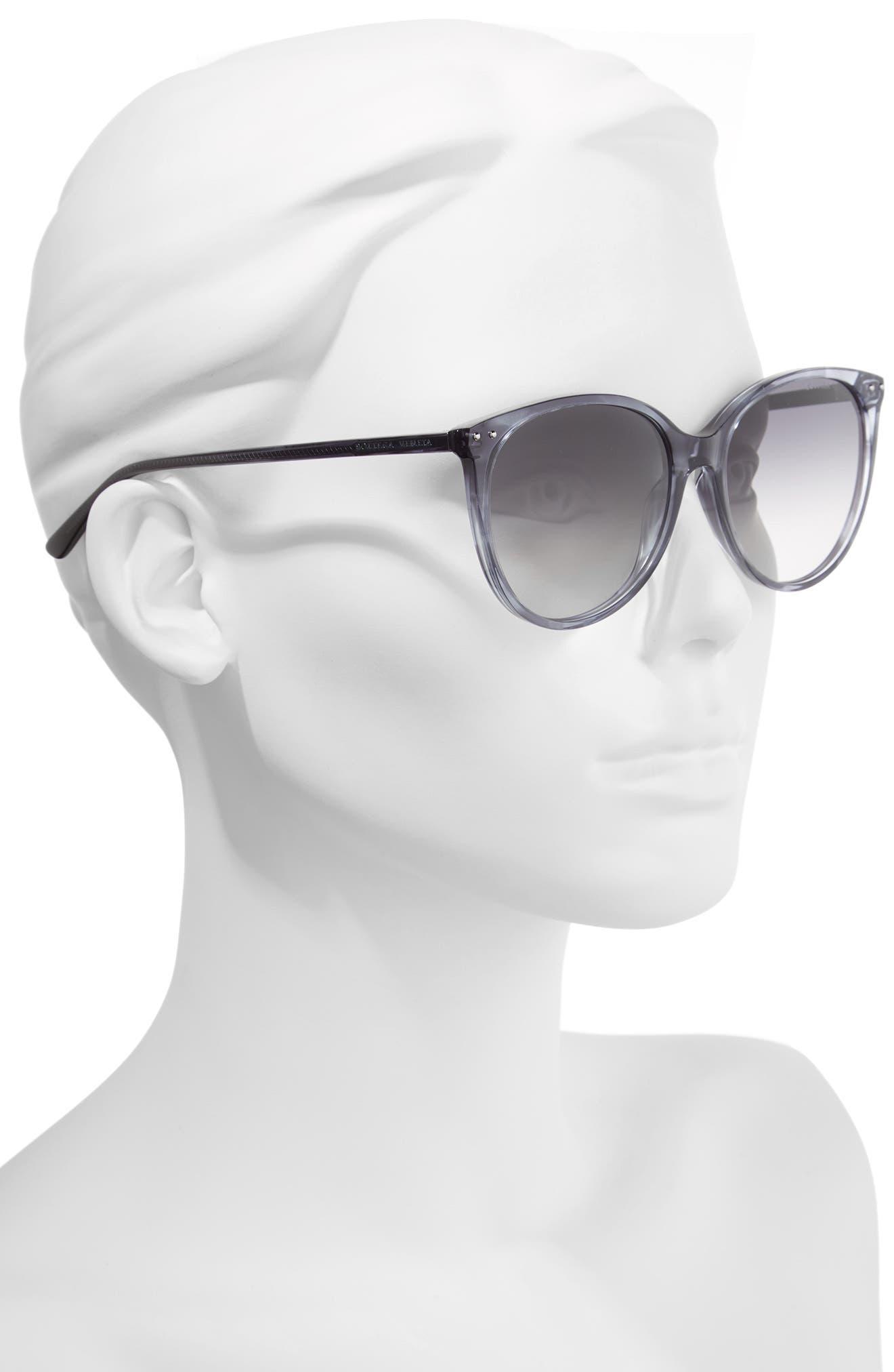 55mm Cat Eye Sunglasses,                             Alternate thumbnail 2, color,                             GREY
