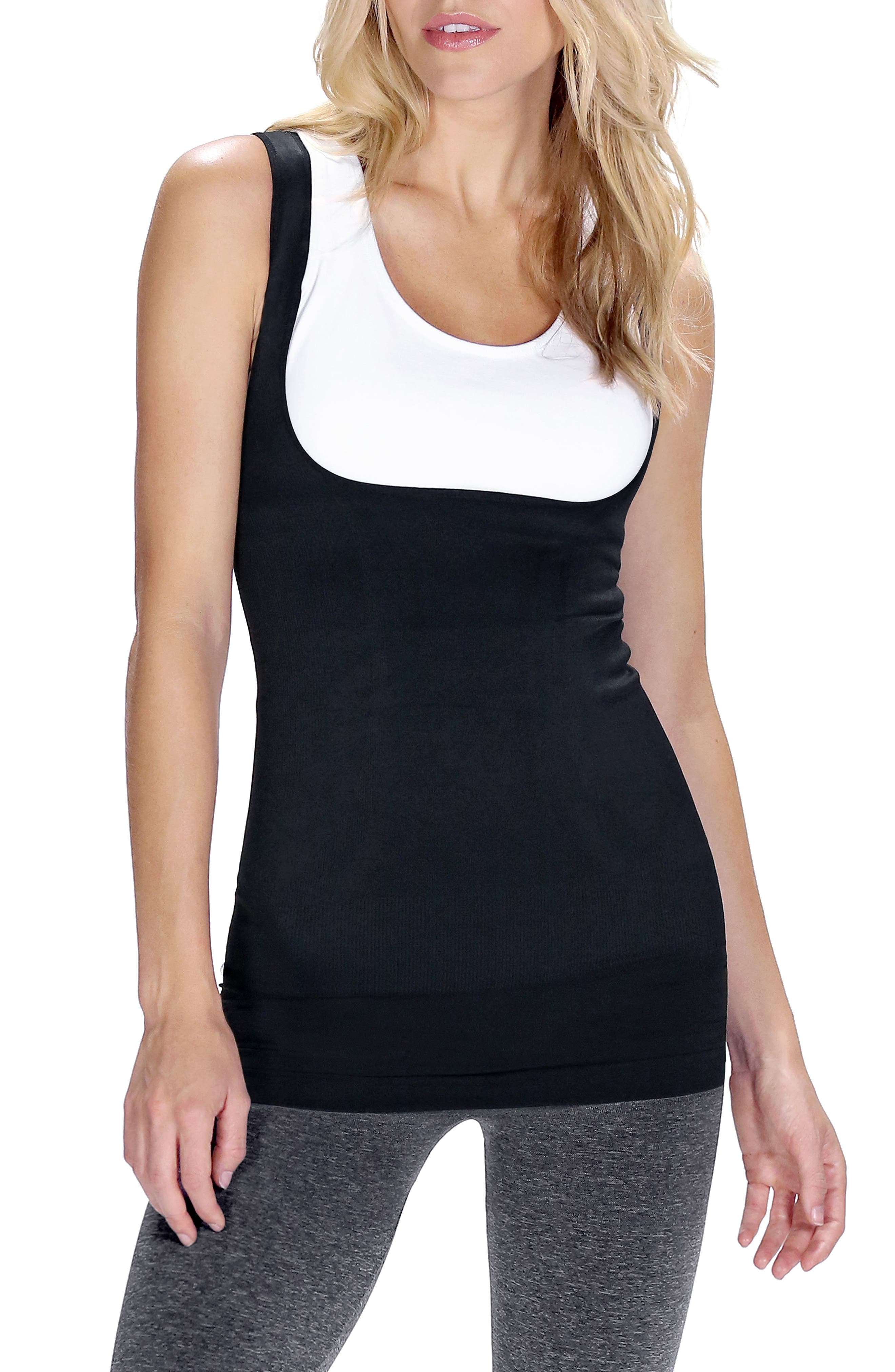 Everyday<sup>™</sup> Lift-Up Access Postpartum + Nursing Support Tank,                             Main thumbnail 1, color,                             DEEPEST BLACK