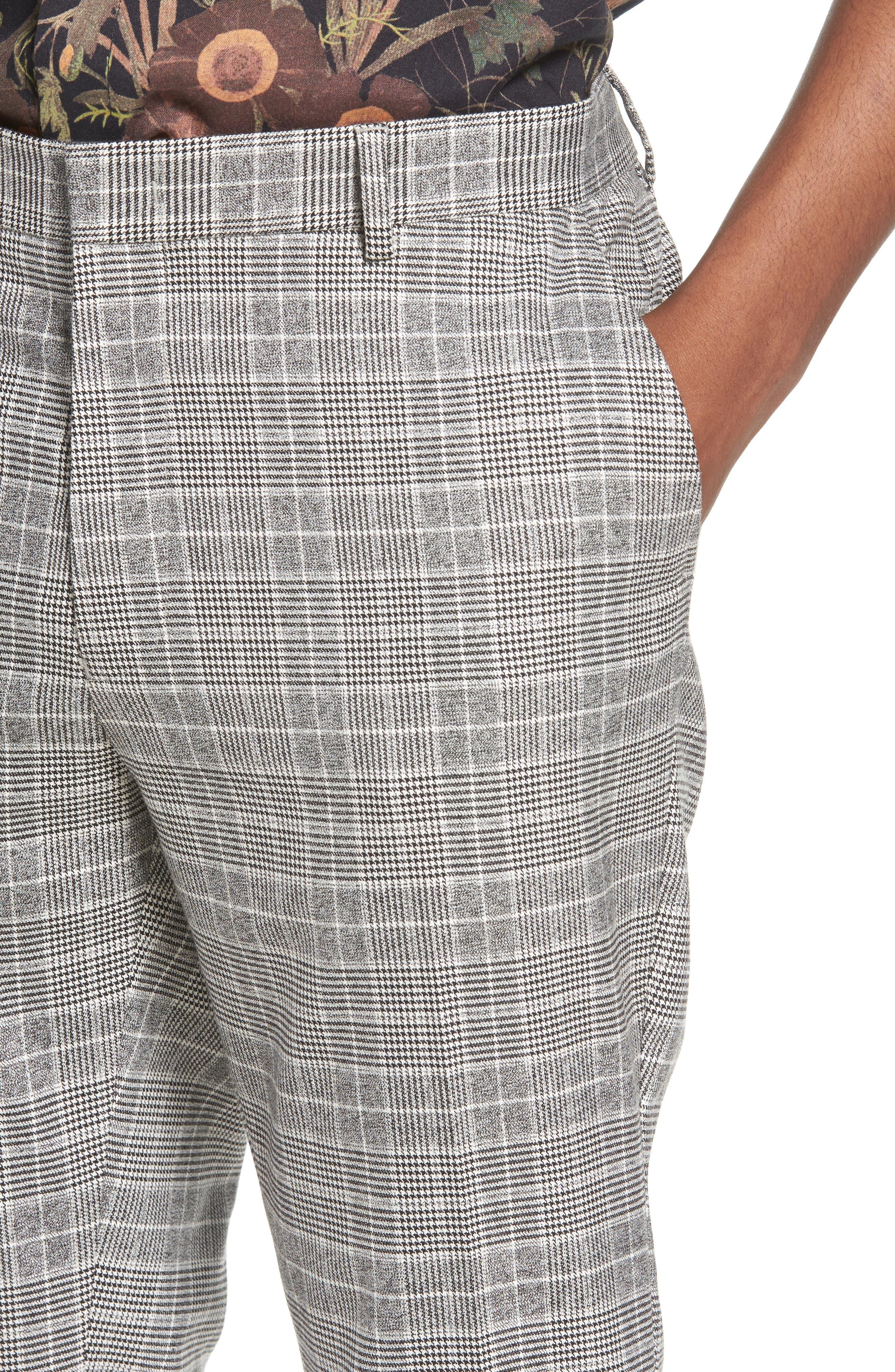 Check Trousers,                             Alternate thumbnail 4, color,                             BLACK