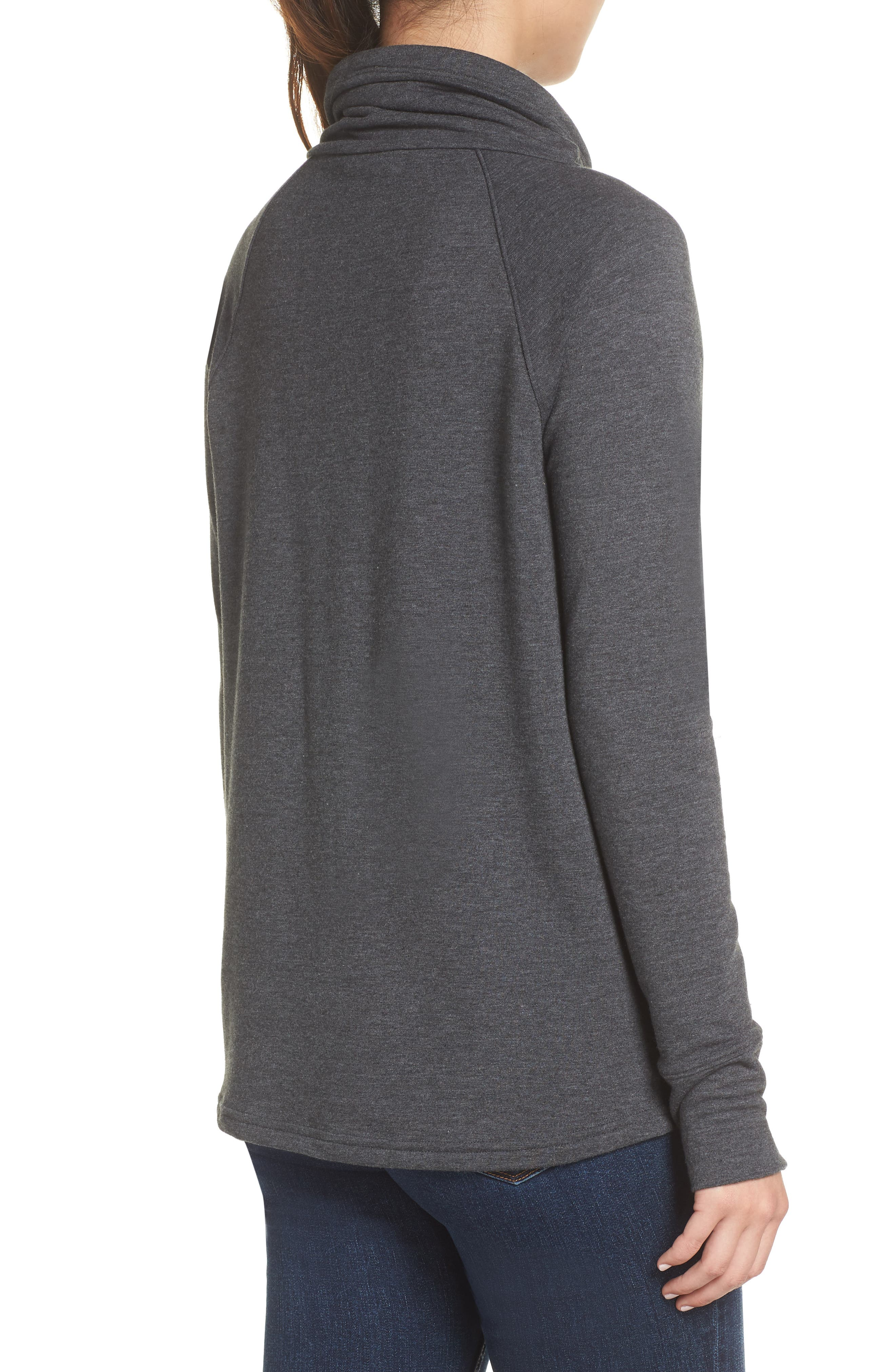 Funnel Neck Sweatshirt,                             Alternate thumbnail 2, color,                             TNF DARK GREY HEATHER