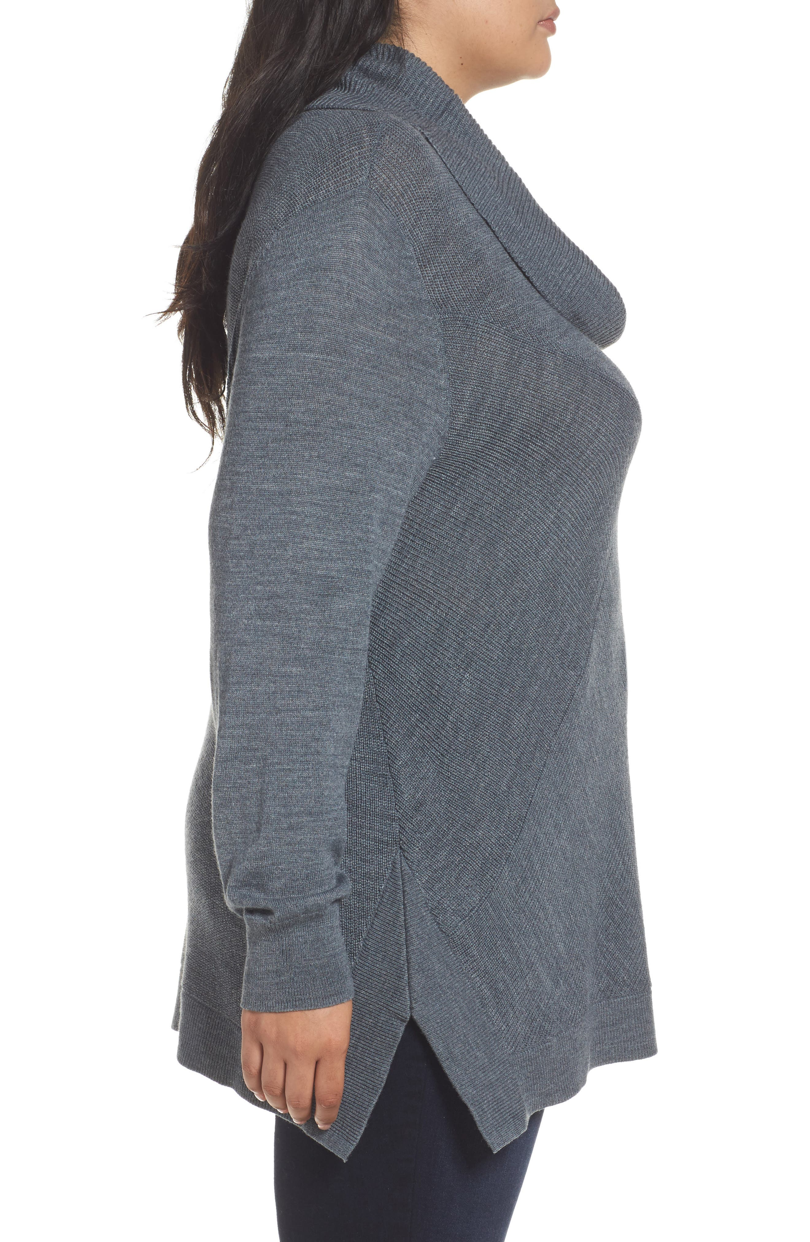 Cowl Neck Ribbed Trim Pullover,                             Alternate thumbnail 16, color,