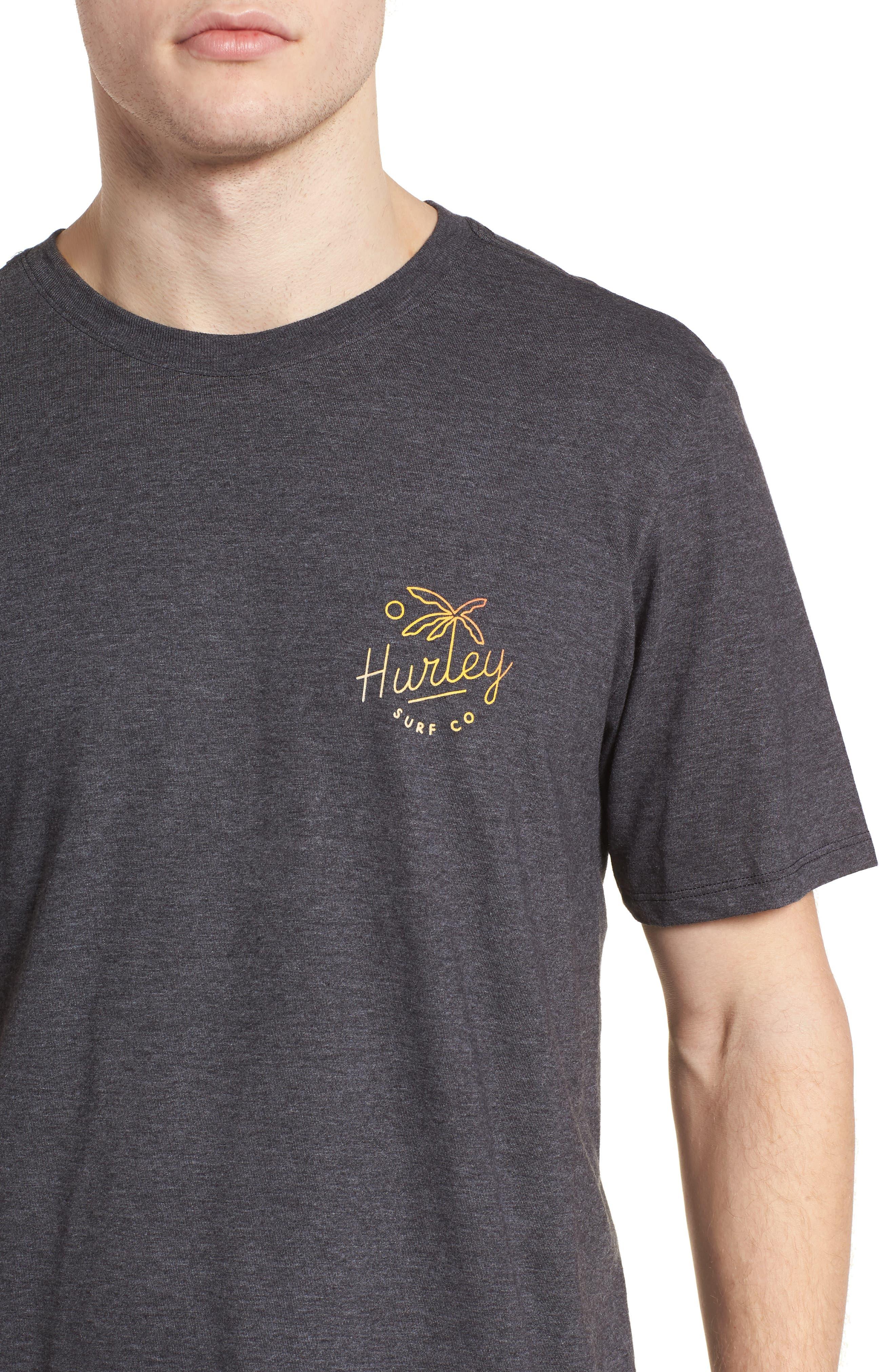 Paradise Script T-Shirt,                             Alternate thumbnail 4, color,                             BLACK HEATHER