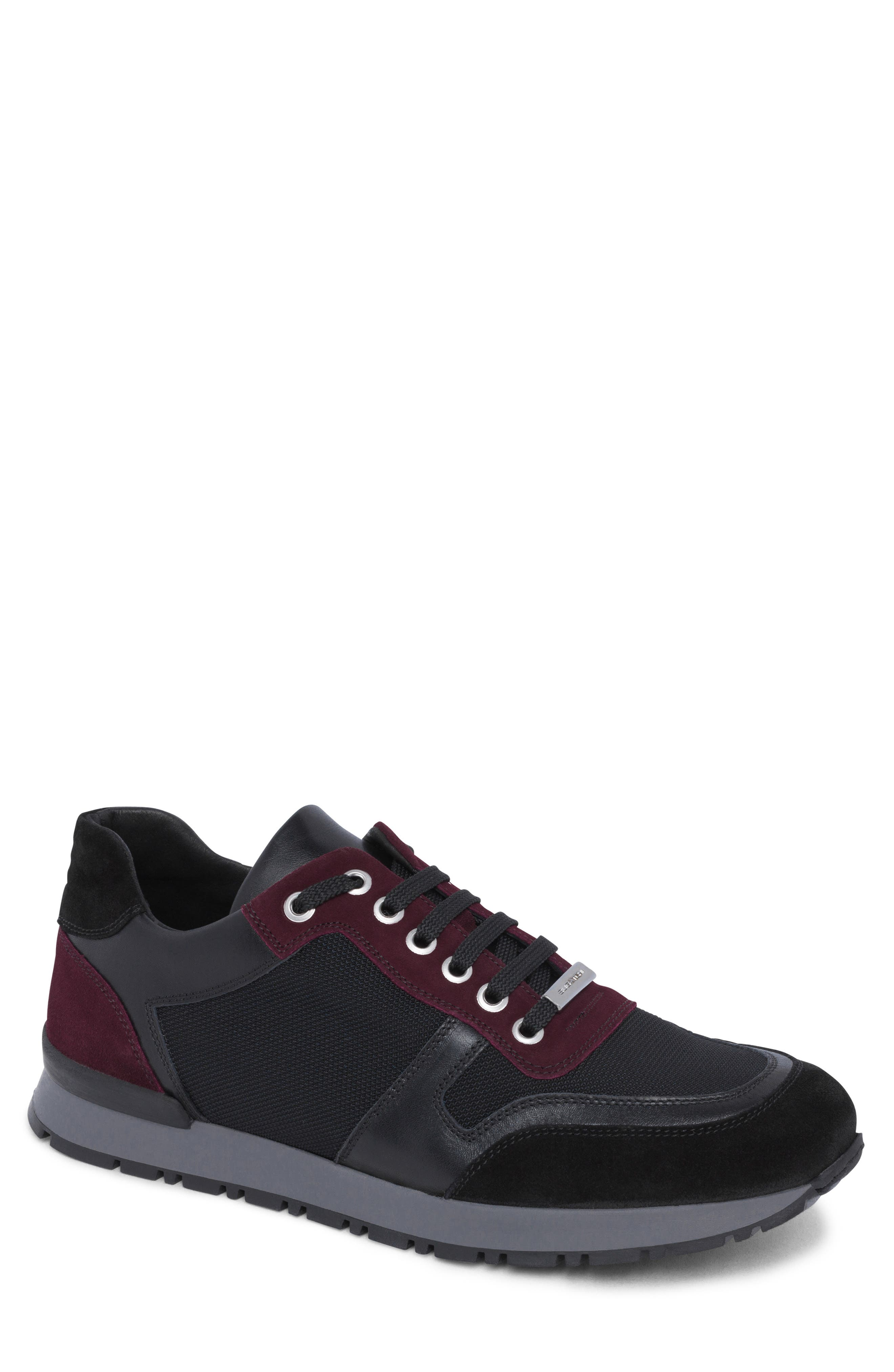 men's bugatchi modena sneaker, size 12 m - burgundy