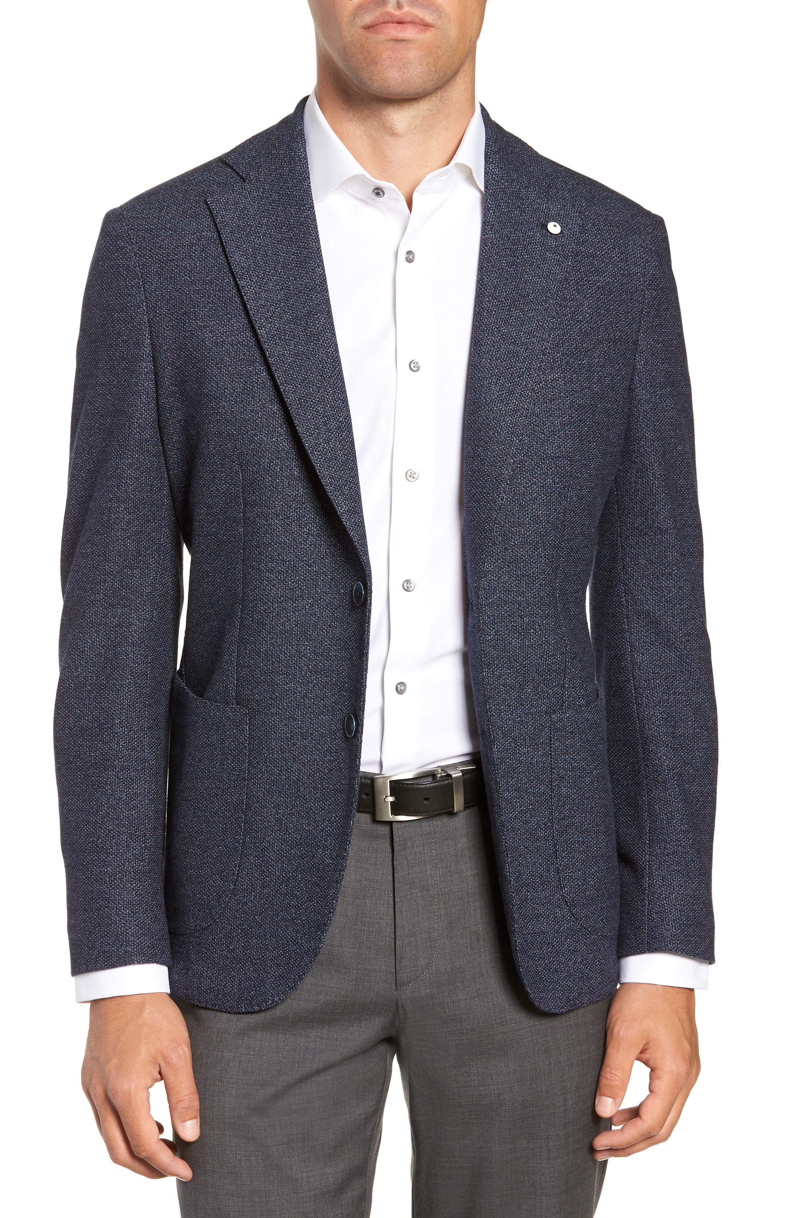 L.B.M. L.B.M 1911 Classic Fit Wool & Cotton Sport Coat in Blue
