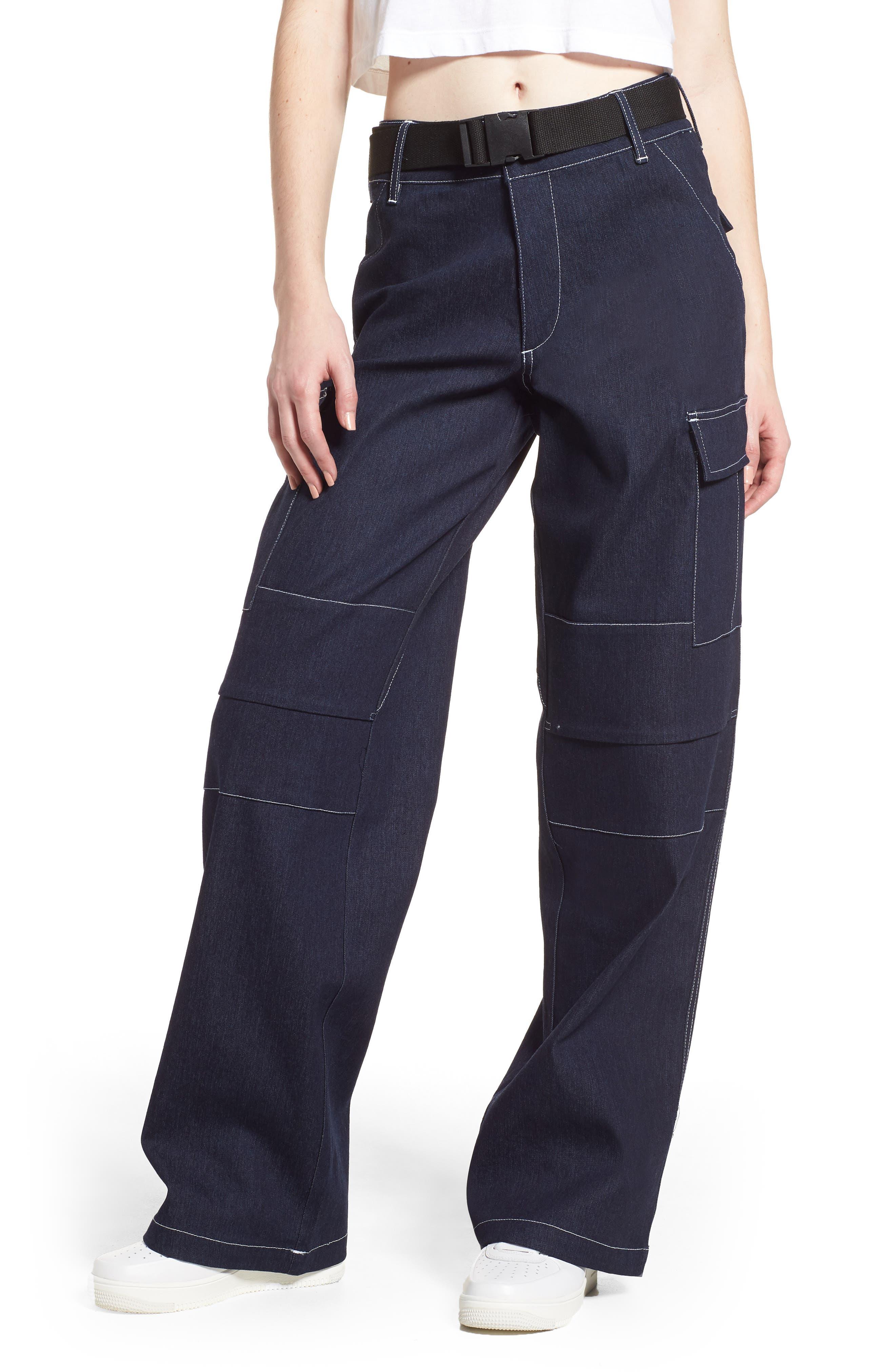 I.AM.GIA Ace Cargo Jeans,                             Main thumbnail 1, color,                             DENIM