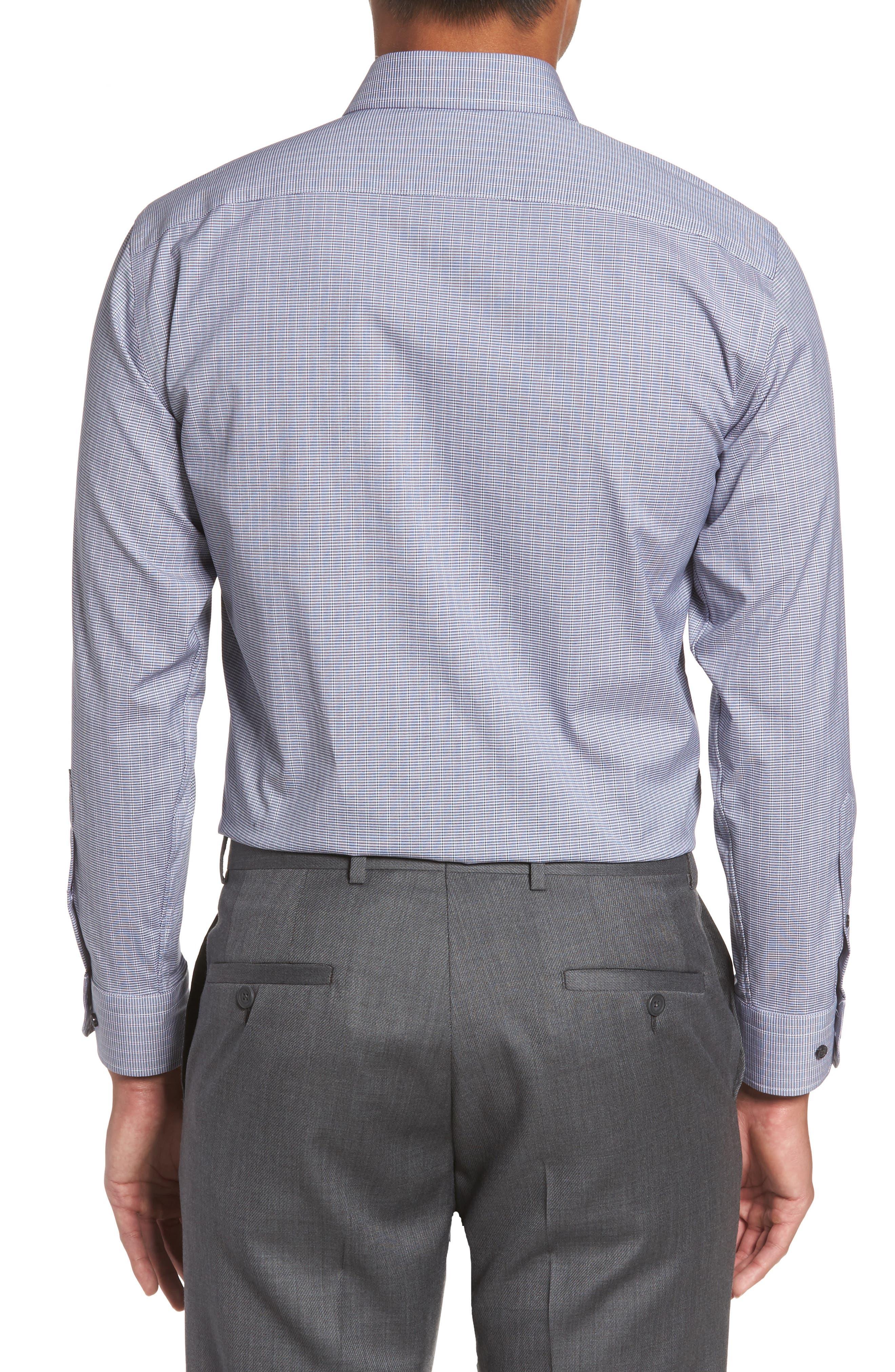 Trim Fit Non-Iron Dress Shirt,                             Alternate thumbnail 2, color,                             421
