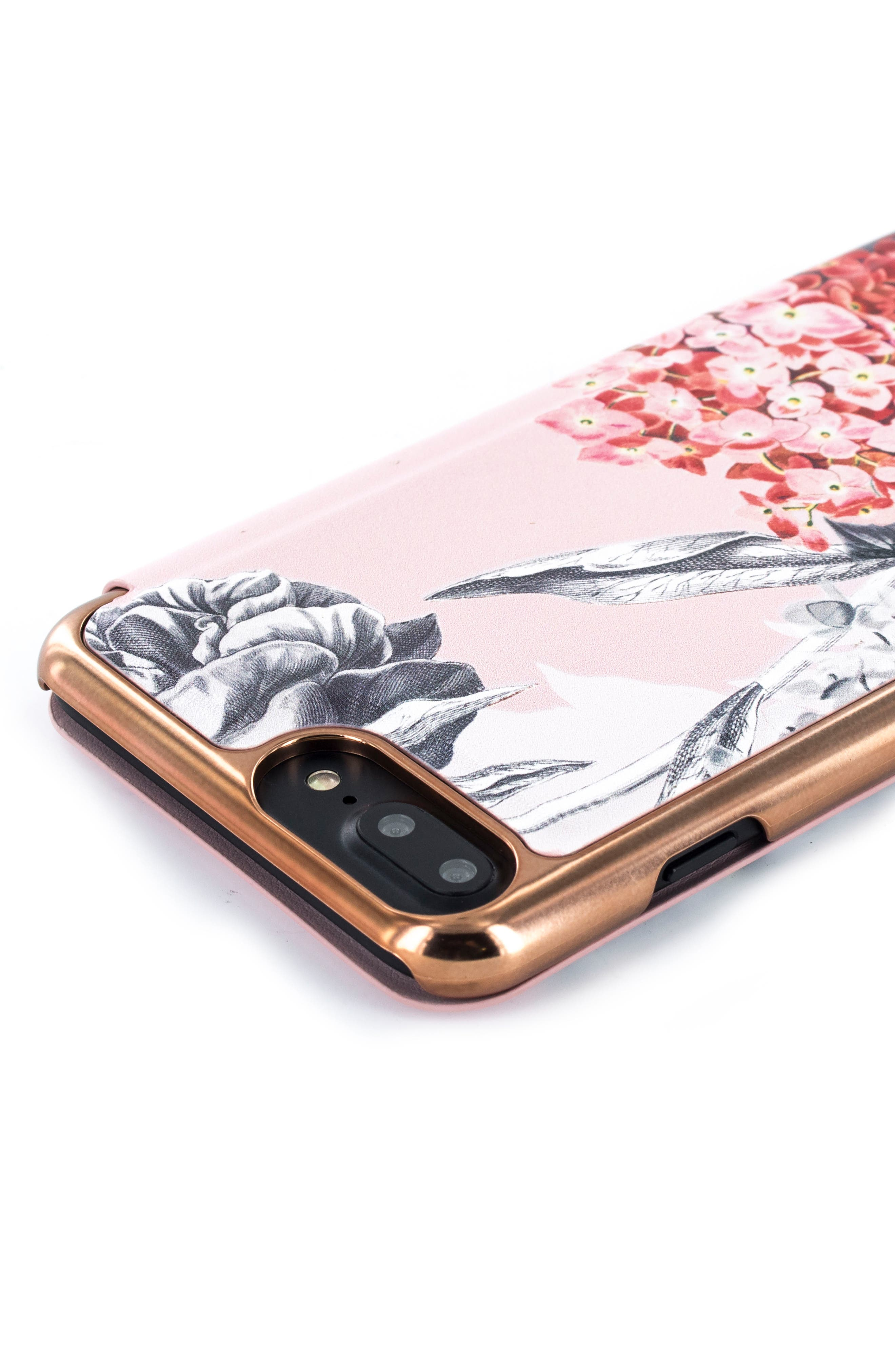 TED BAKER LONDON,                             Palace Gardens iPhone 7/8 & 7/8 Plus Case,                             Alternate thumbnail 4, color,                             PINK