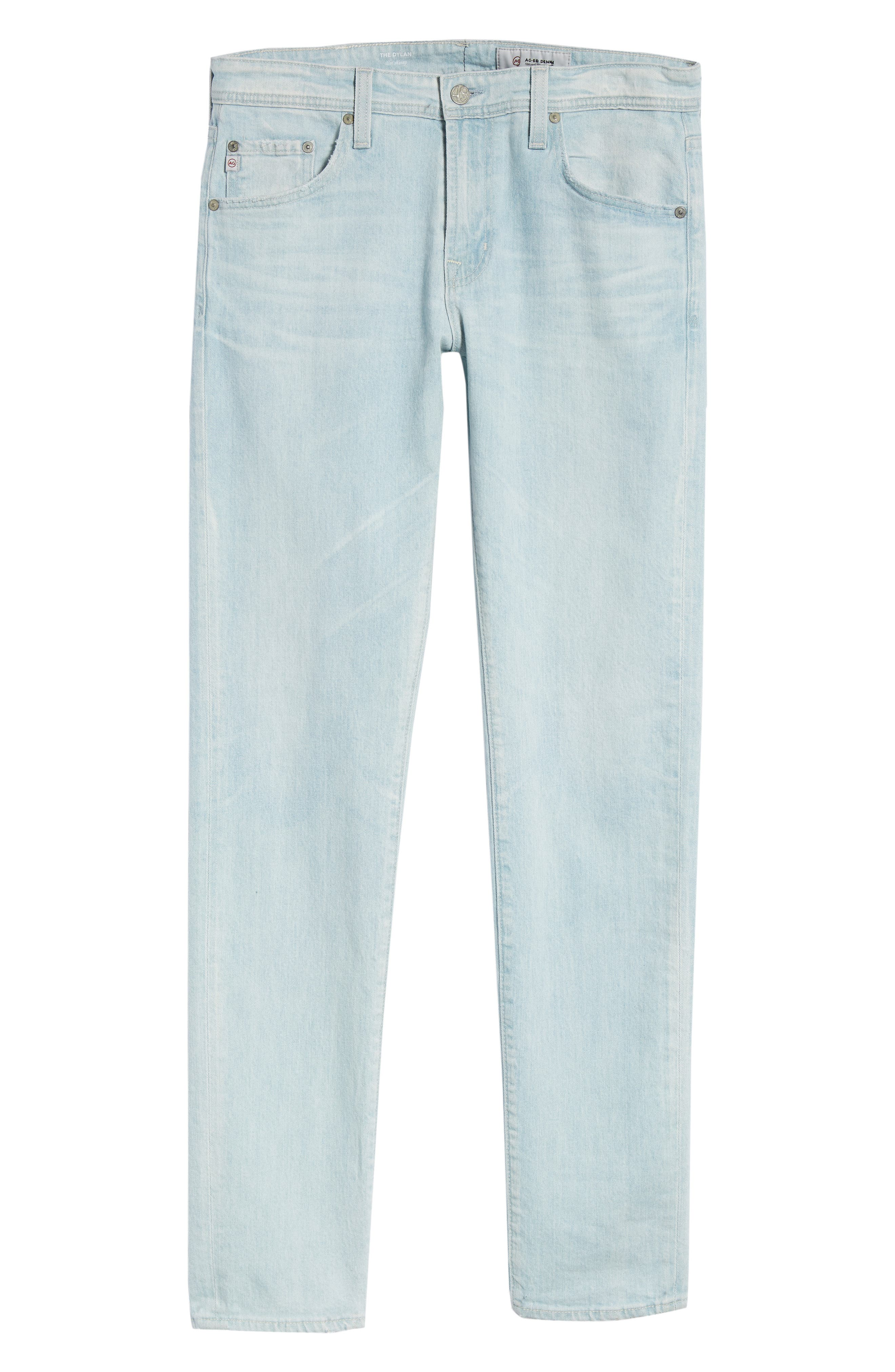 Dylan Skinny Fit Jeans,                             Alternate thumbnail 6, color,                             28 YEARS SALT MIST