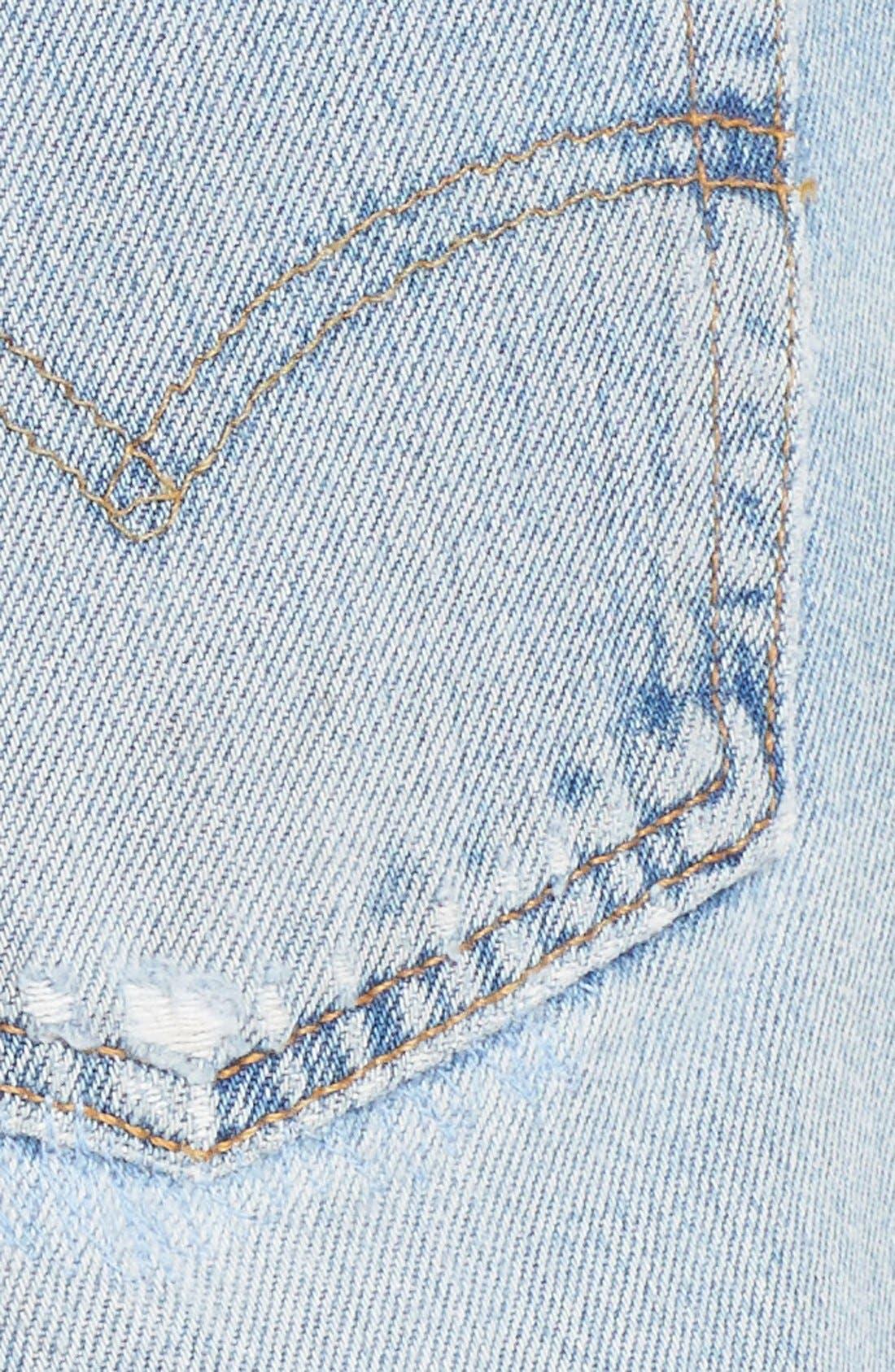 'The Short' Reconstructed Denim Shorts,                             Alternate thumbnail 5, color,