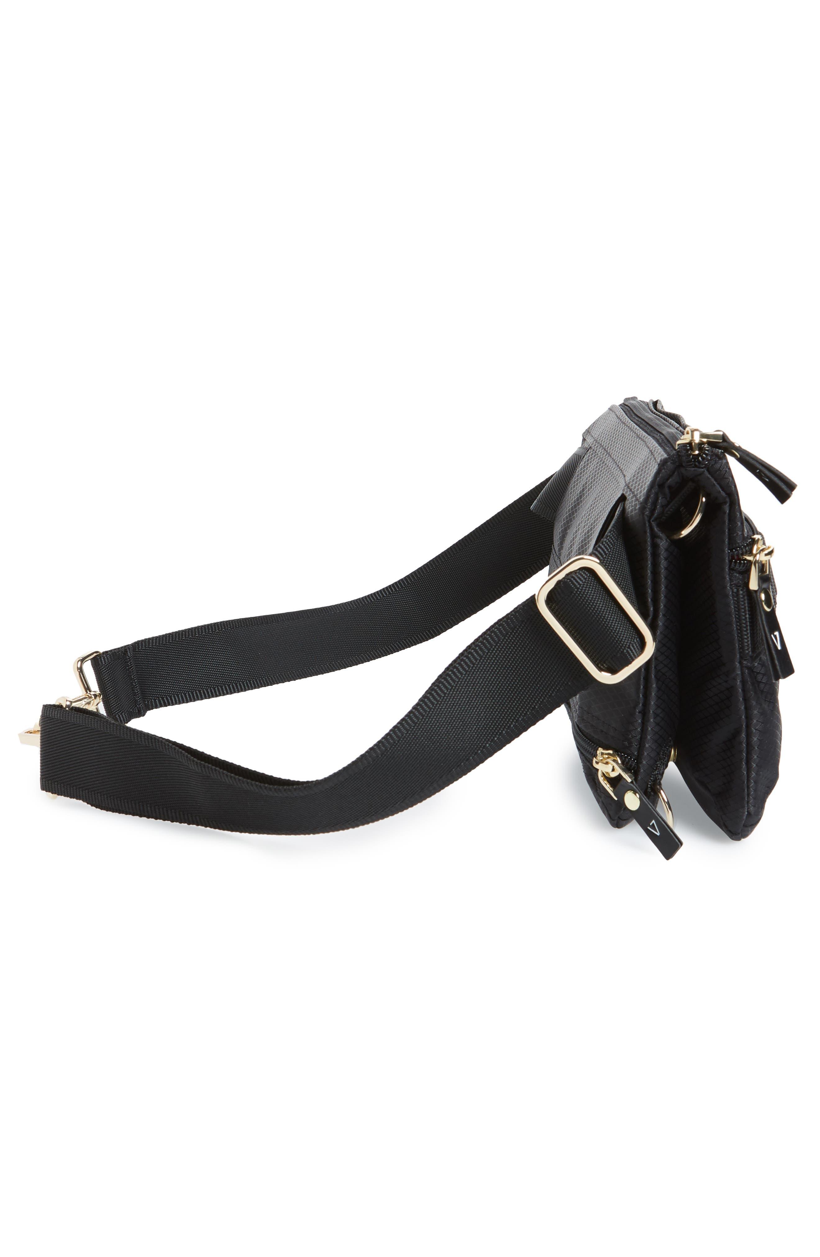 Go Black Expandable Belt Bag,                             Alternate thumbnail 7, color,                             BLACK