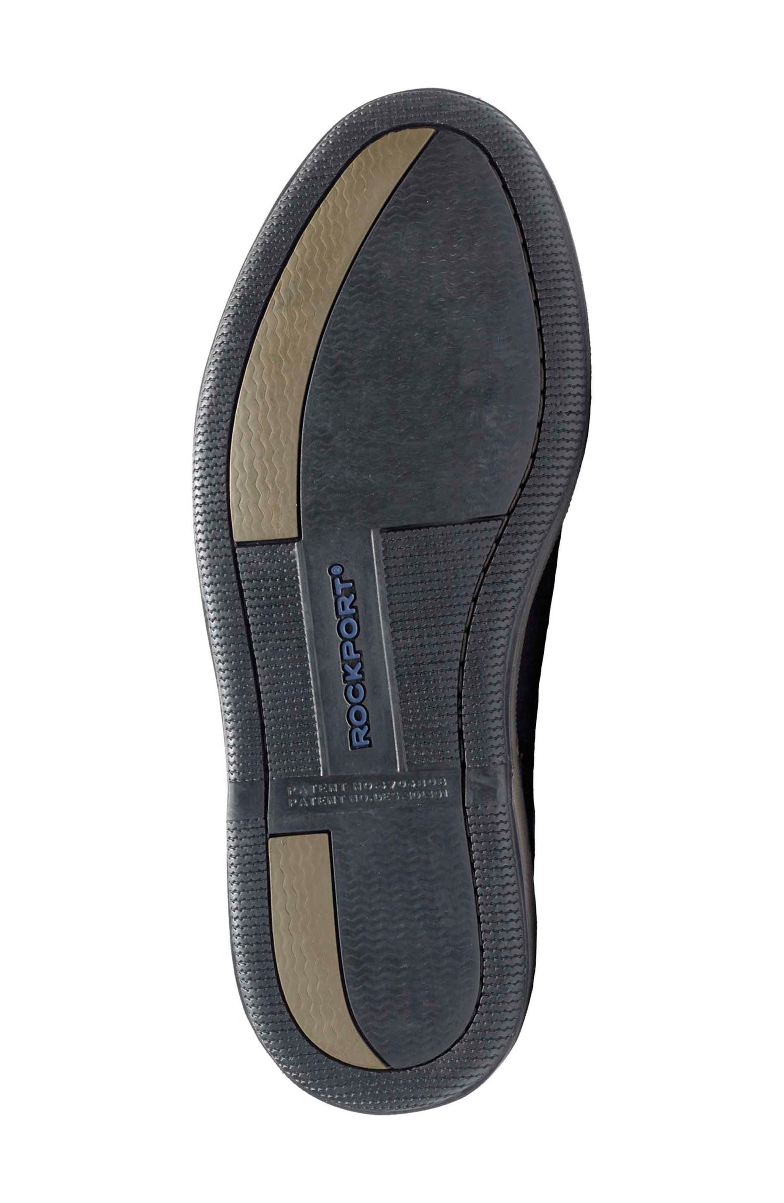 'Perth' Boat Shoe,                             Alternate thumbnail 6, color,                             BLACK/ BARK LEATHER