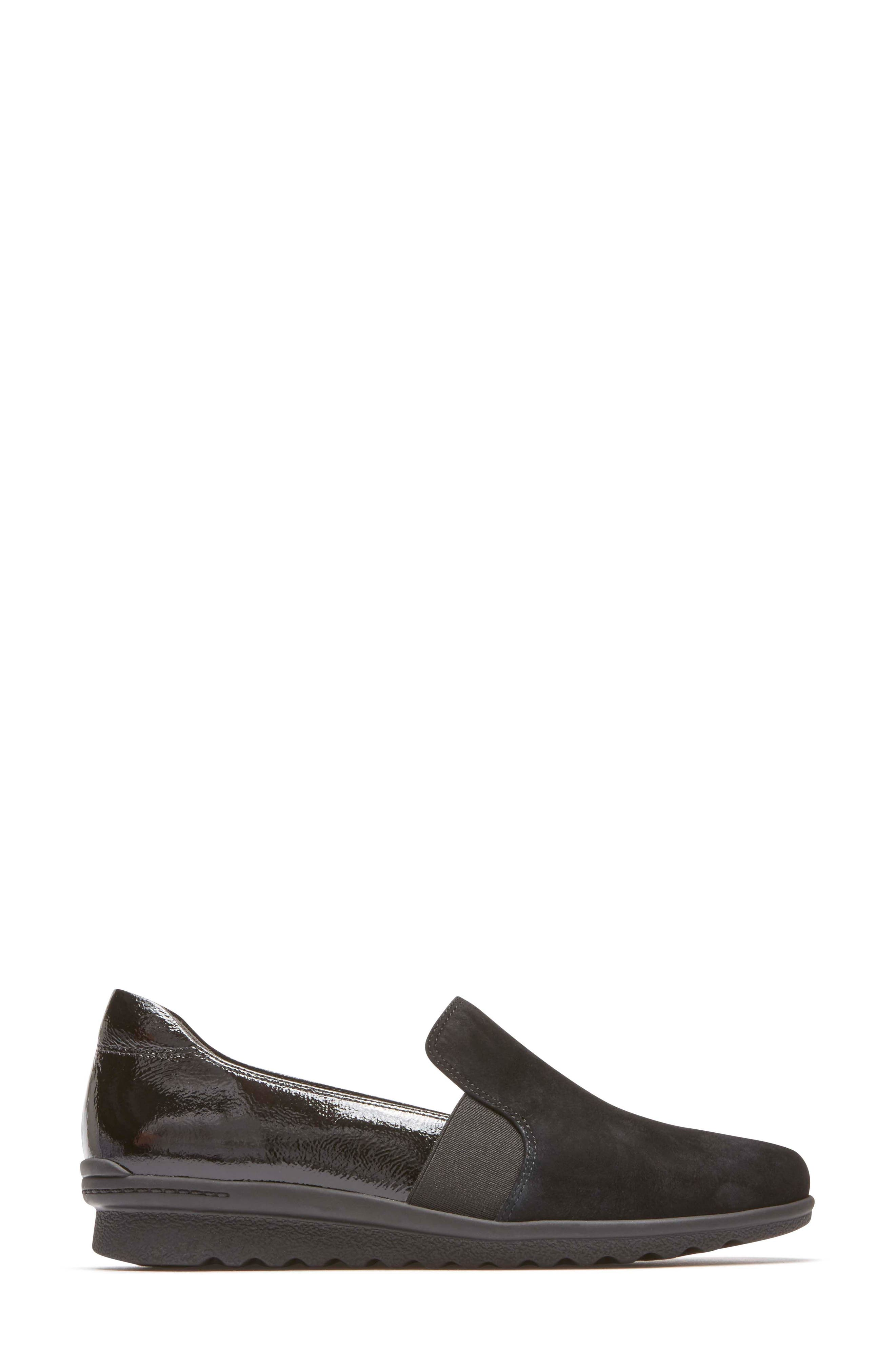 Chenole Loafer,                             Alternate thumbnail 3, color,                             BLACK SUEDE