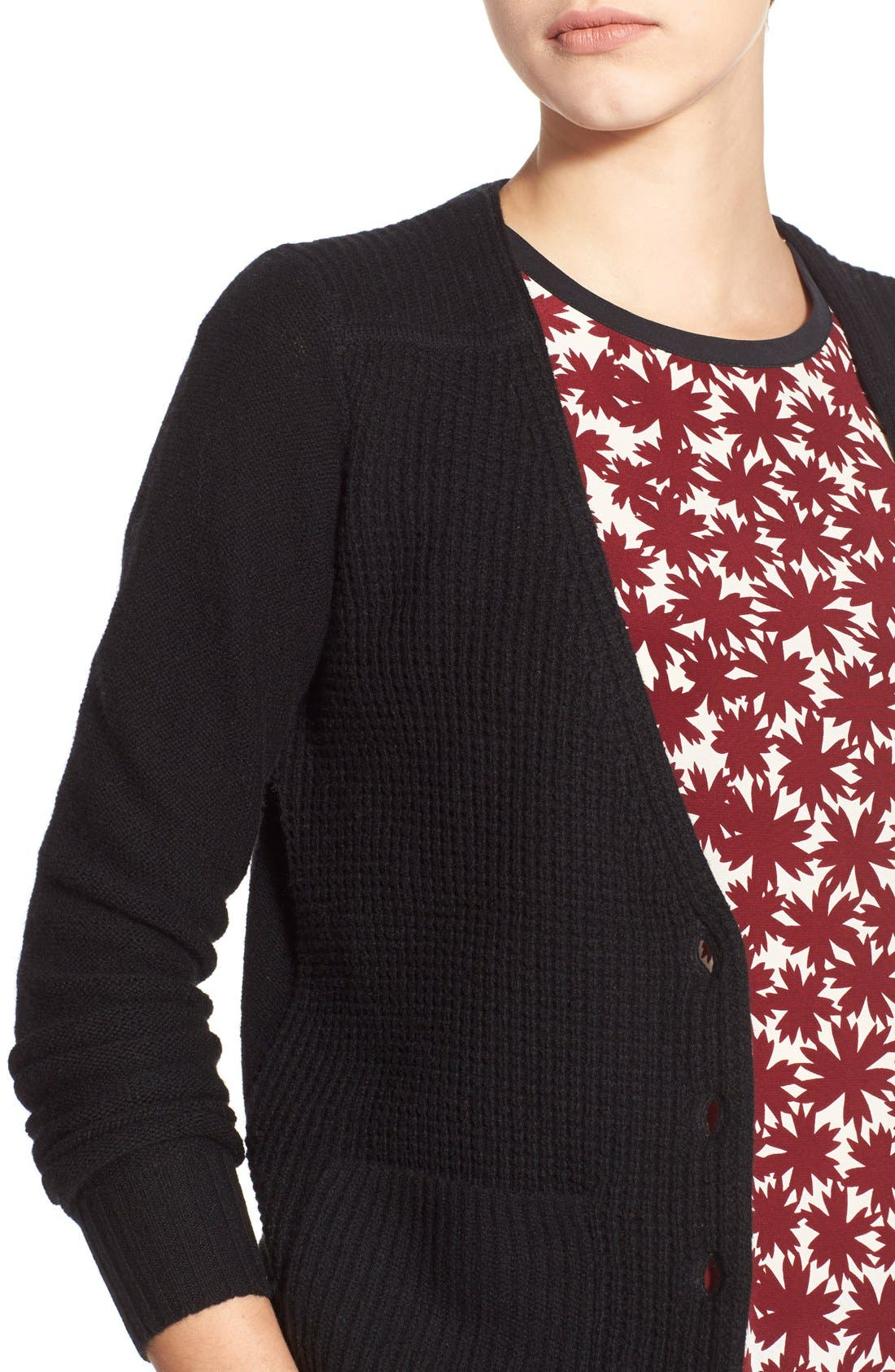 MADEWELL,                             'University' Cardigan,                             Alternate thumbnail 4, color,                             001