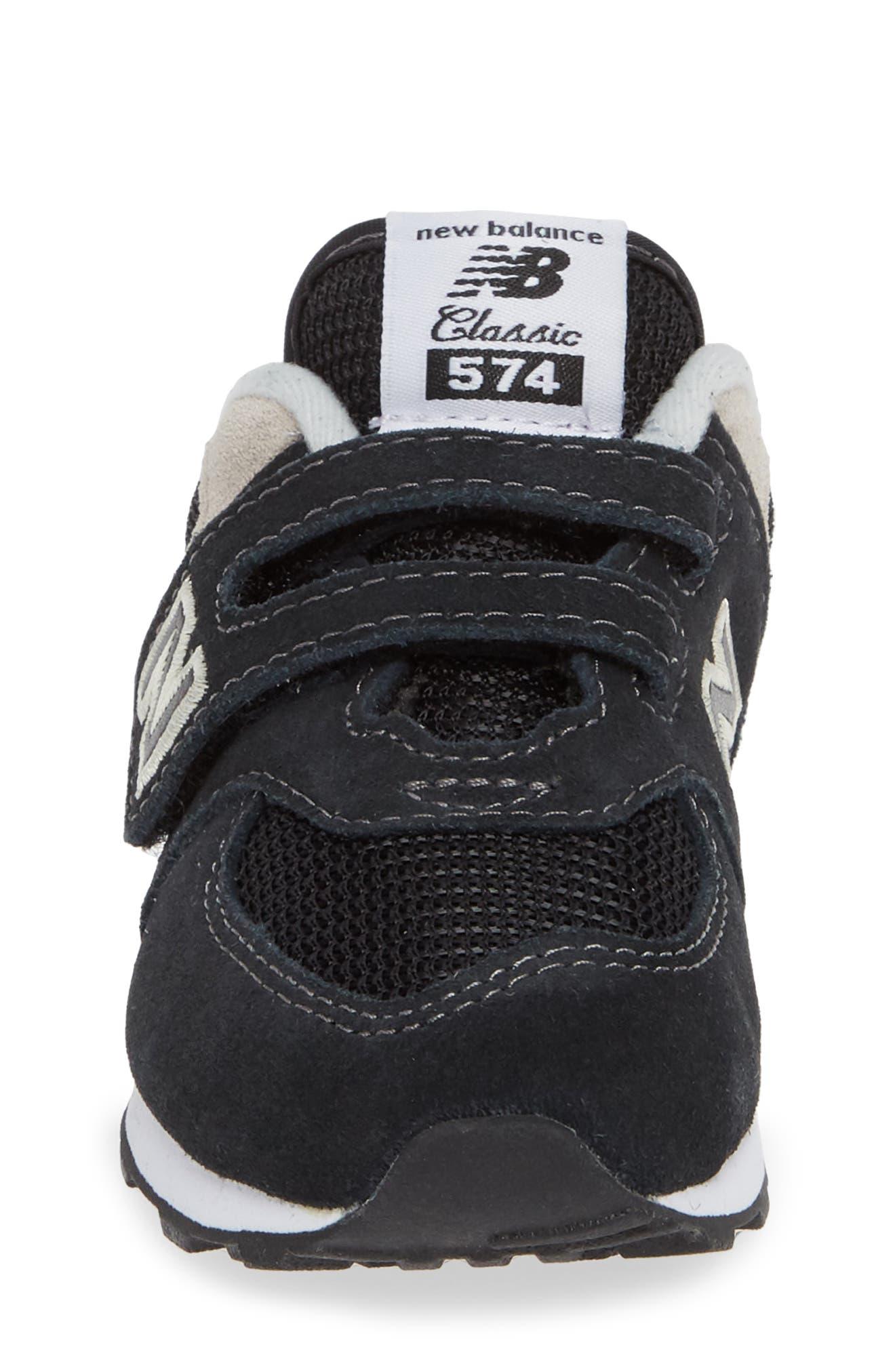 '574 Core' Sneaker,                             Alternate thumbnail 4, color,                             BLACK/ GREY