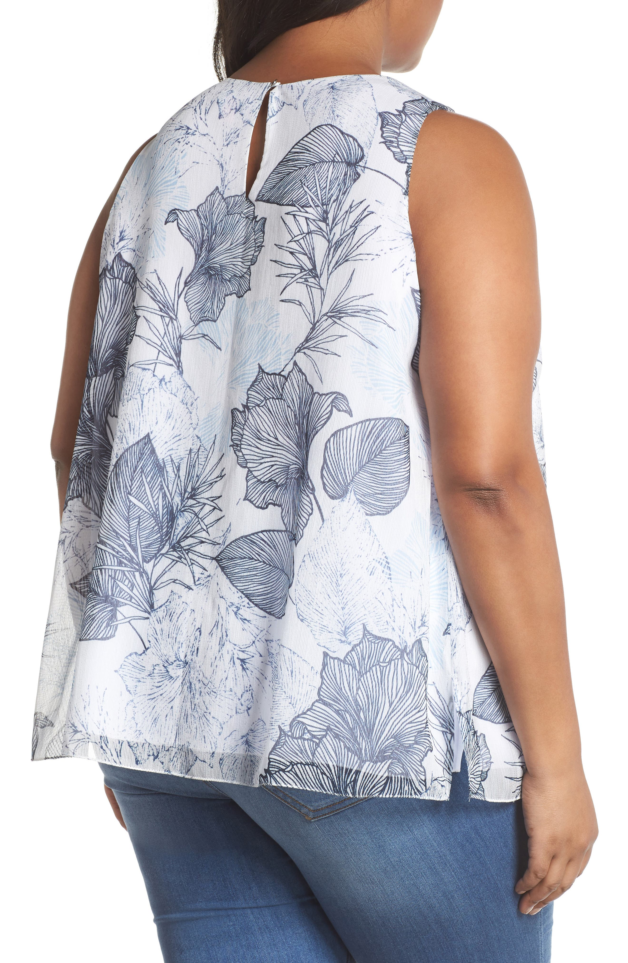 Etched Island Floral Blouse,                             Alternate thumbnail 2, color,                             145