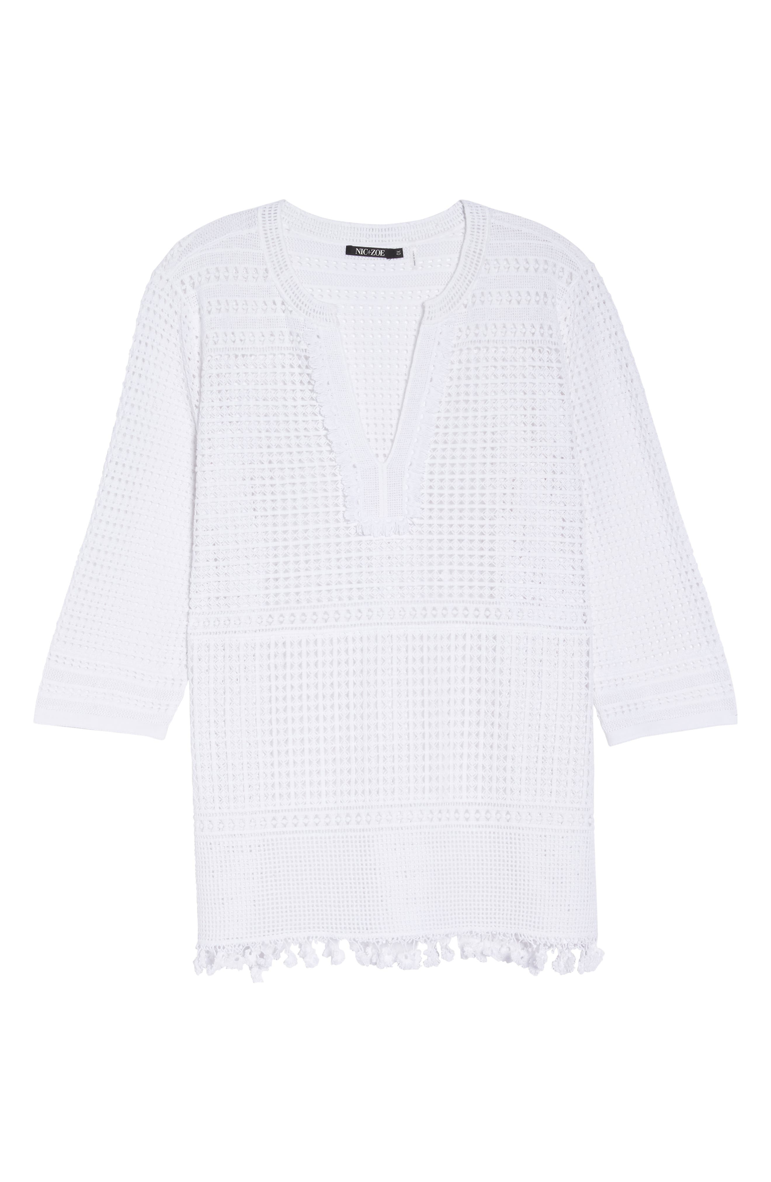 Right on Track Tunic Sweater,                             Alternate thumbnail 7, color,                             PAPER WHITE