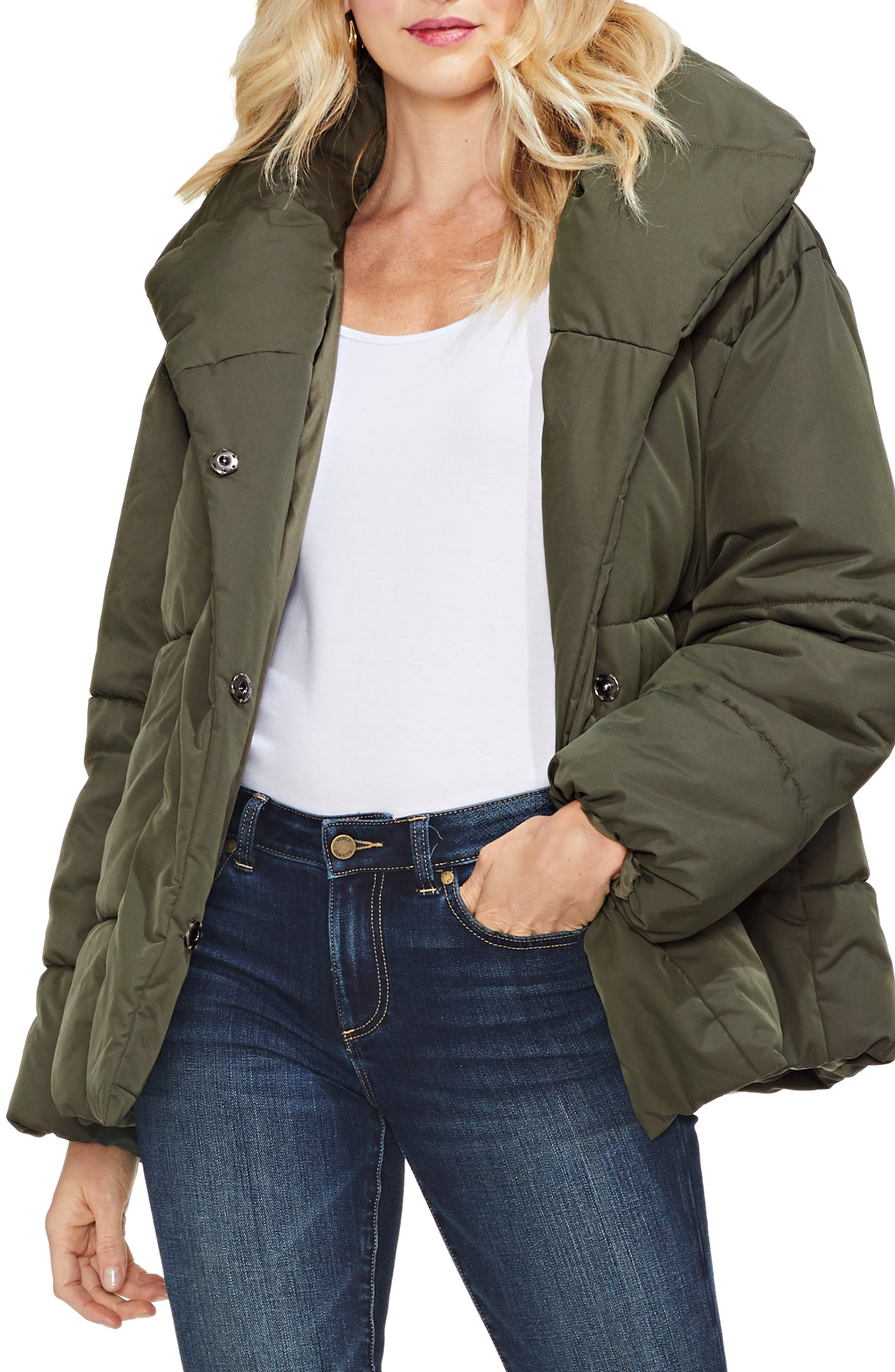 Matte Quilted Puffer Jacket,                             Alternate thumbnail 2, color,                             360