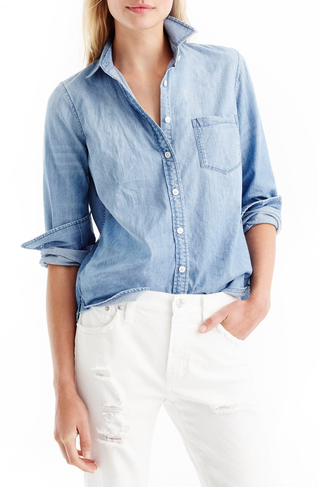 Always Chambray Shirt,                             Alternate thumbnail 8, color,                             402