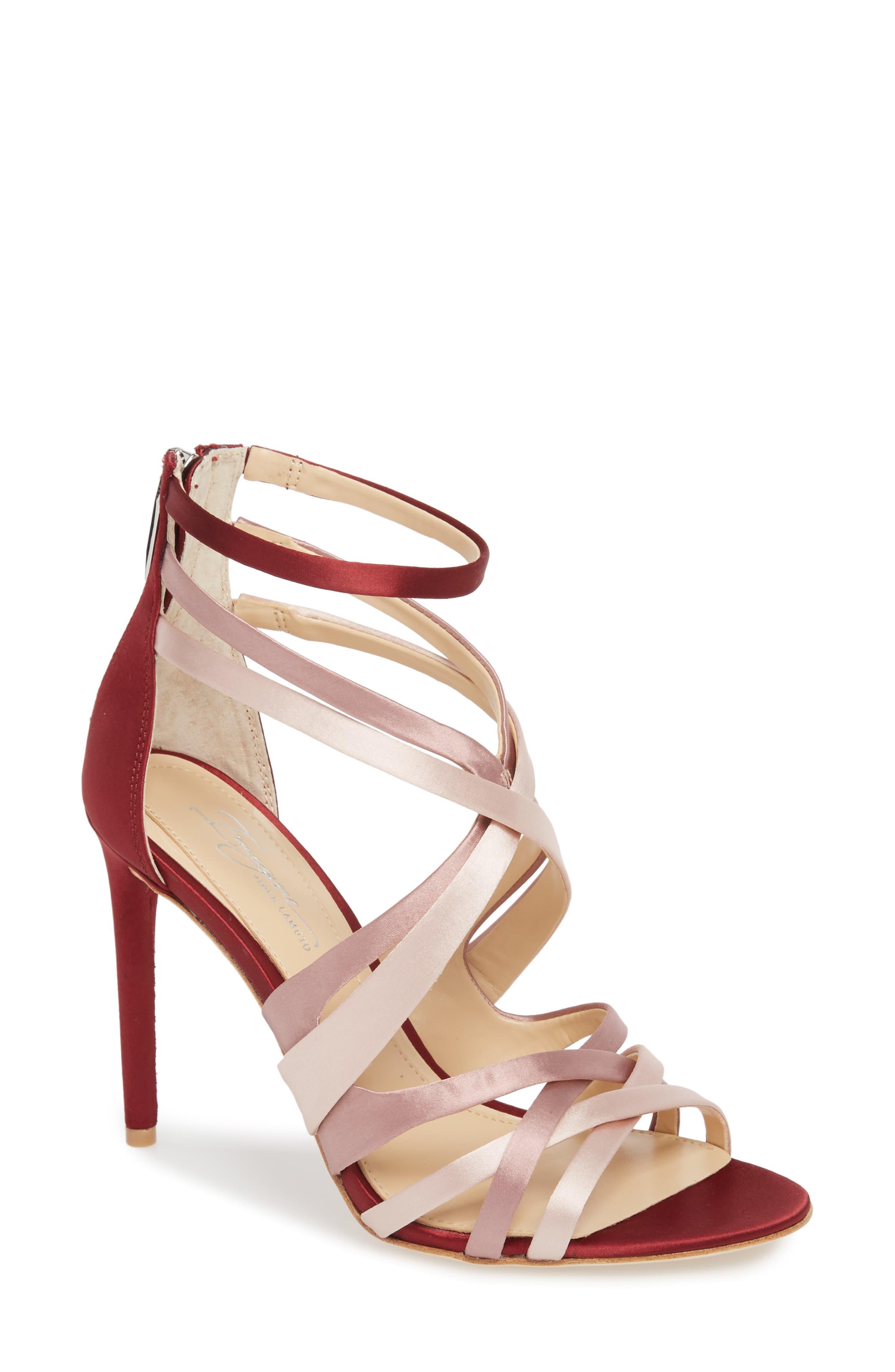 Ress Sandal,                         Main,                         color, DUSTY ROSE SATIN