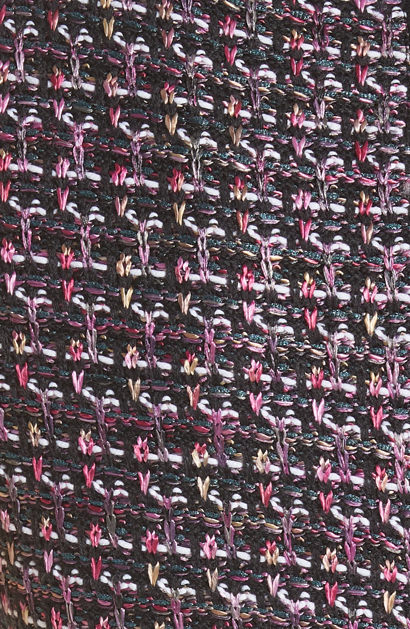 Painterly Sheen Tweed Knit Dress,                             Alternate thumbnail 5, color,                             GRANITE MULTI