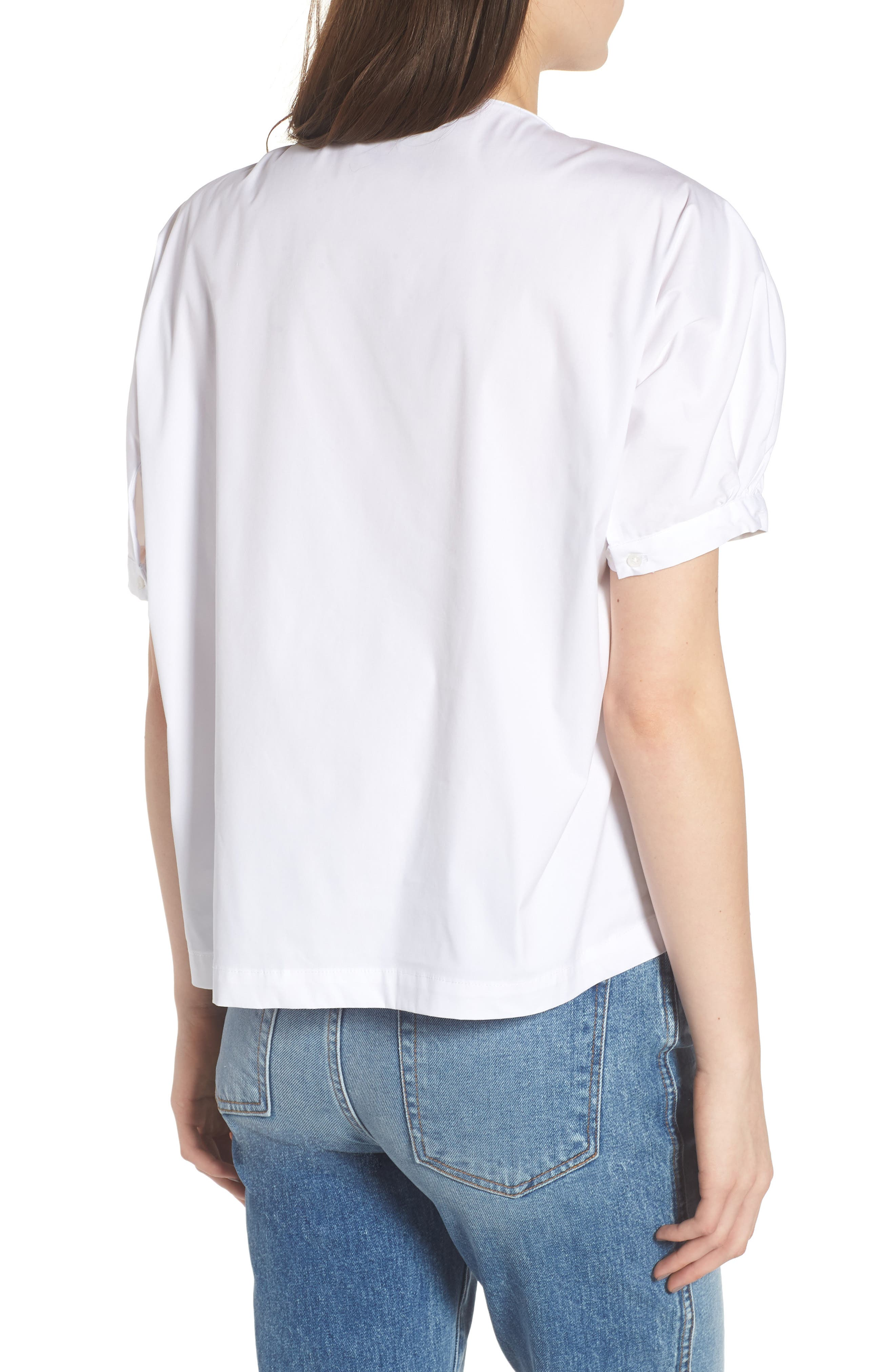 Knot Neck Top,                             Alternate thumbnail 2, color,                             WHITE