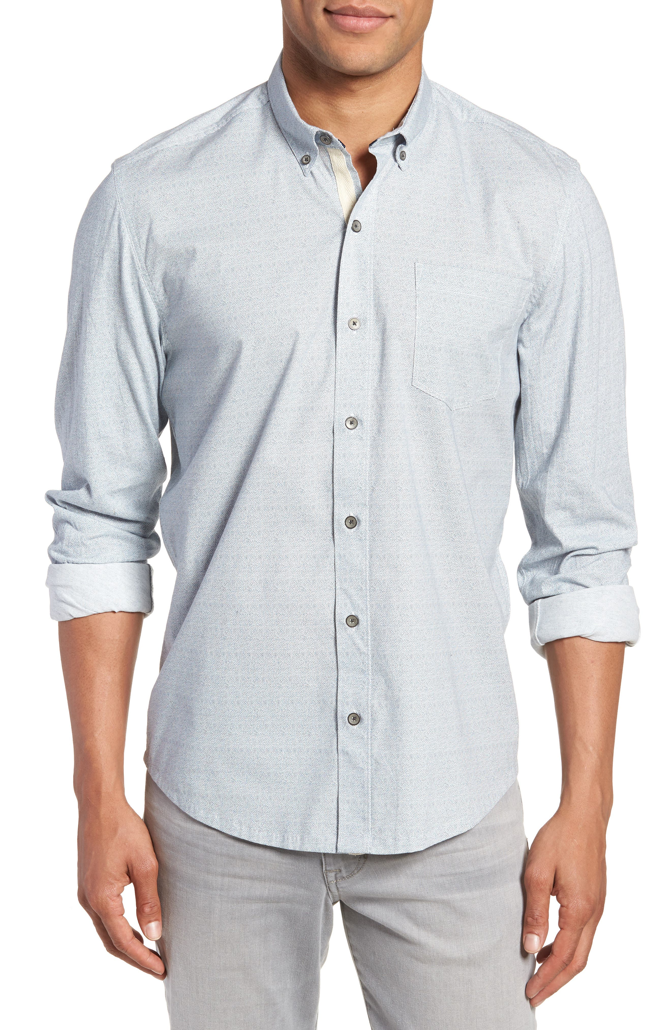 Reworked Slim Fit Speckled Sport Shirt,                             Main thumbnail 1, color,                             400