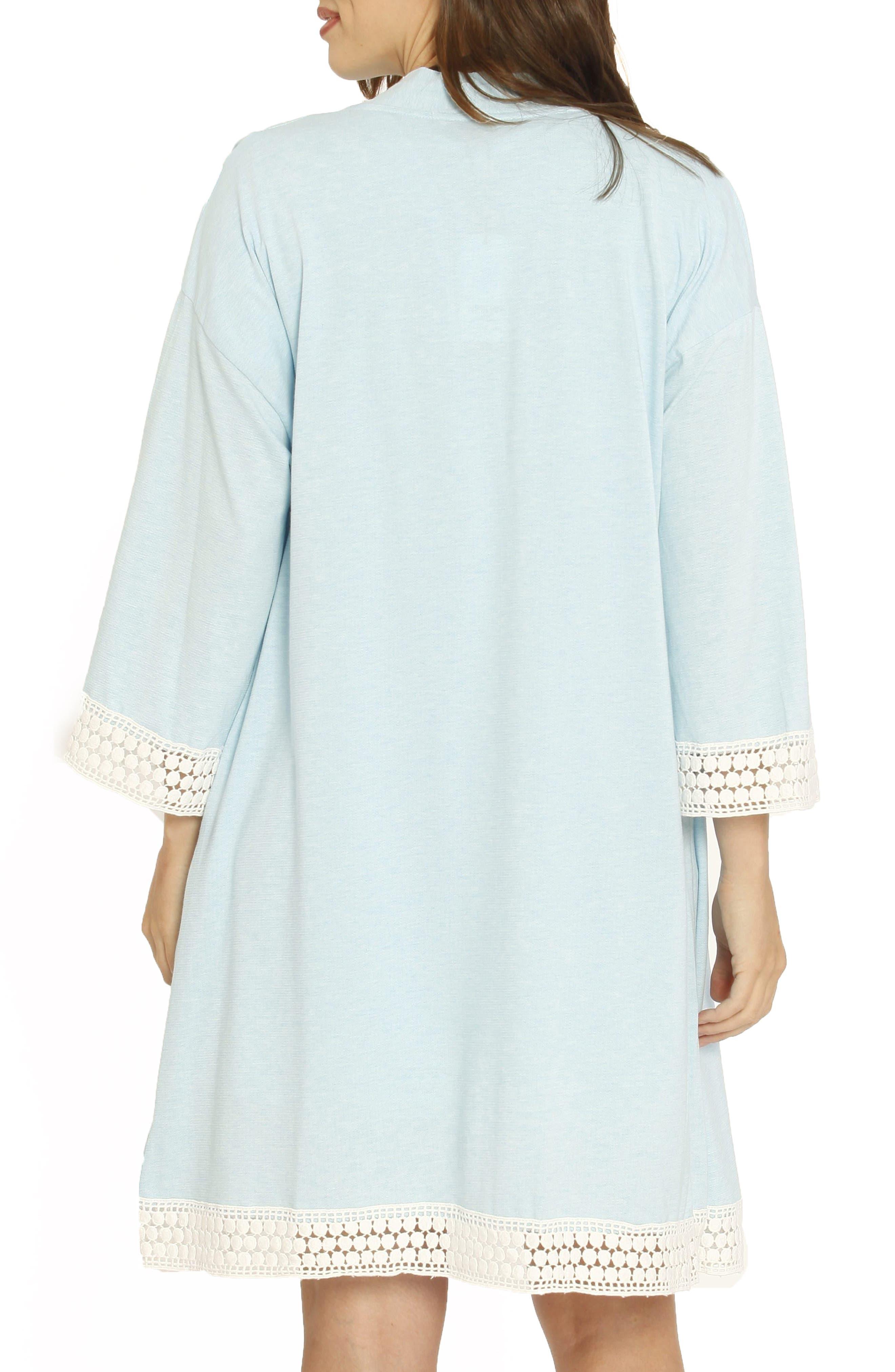 Ruby Maternity/Nursing Sleep Shirt, Robe & Baby Blanket Set,                             Alternate thumbnail 2, color,                             BLUE