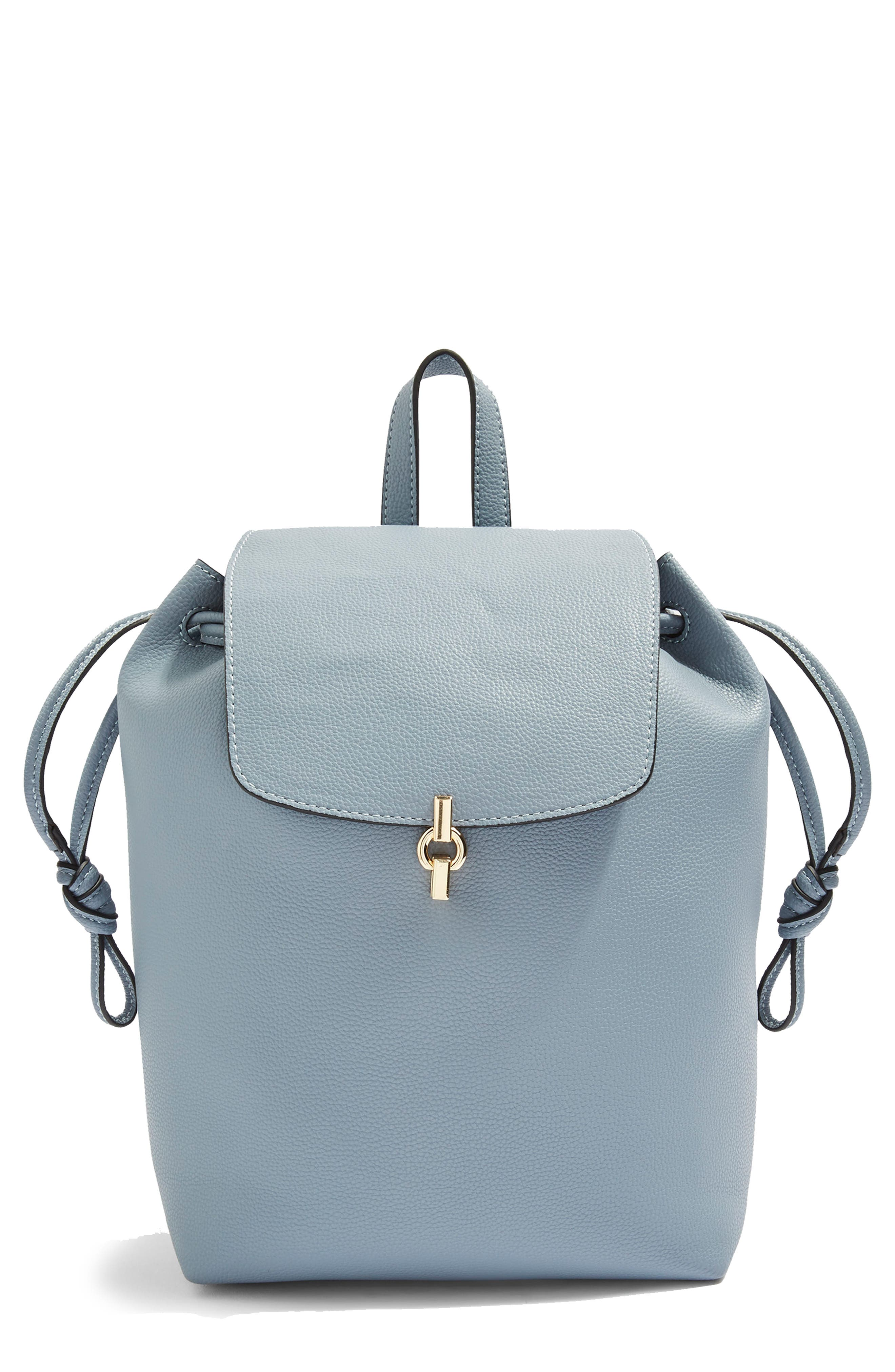 Lucy Metal Tab Backpack,                         Main,                         color, BLUE MULTI