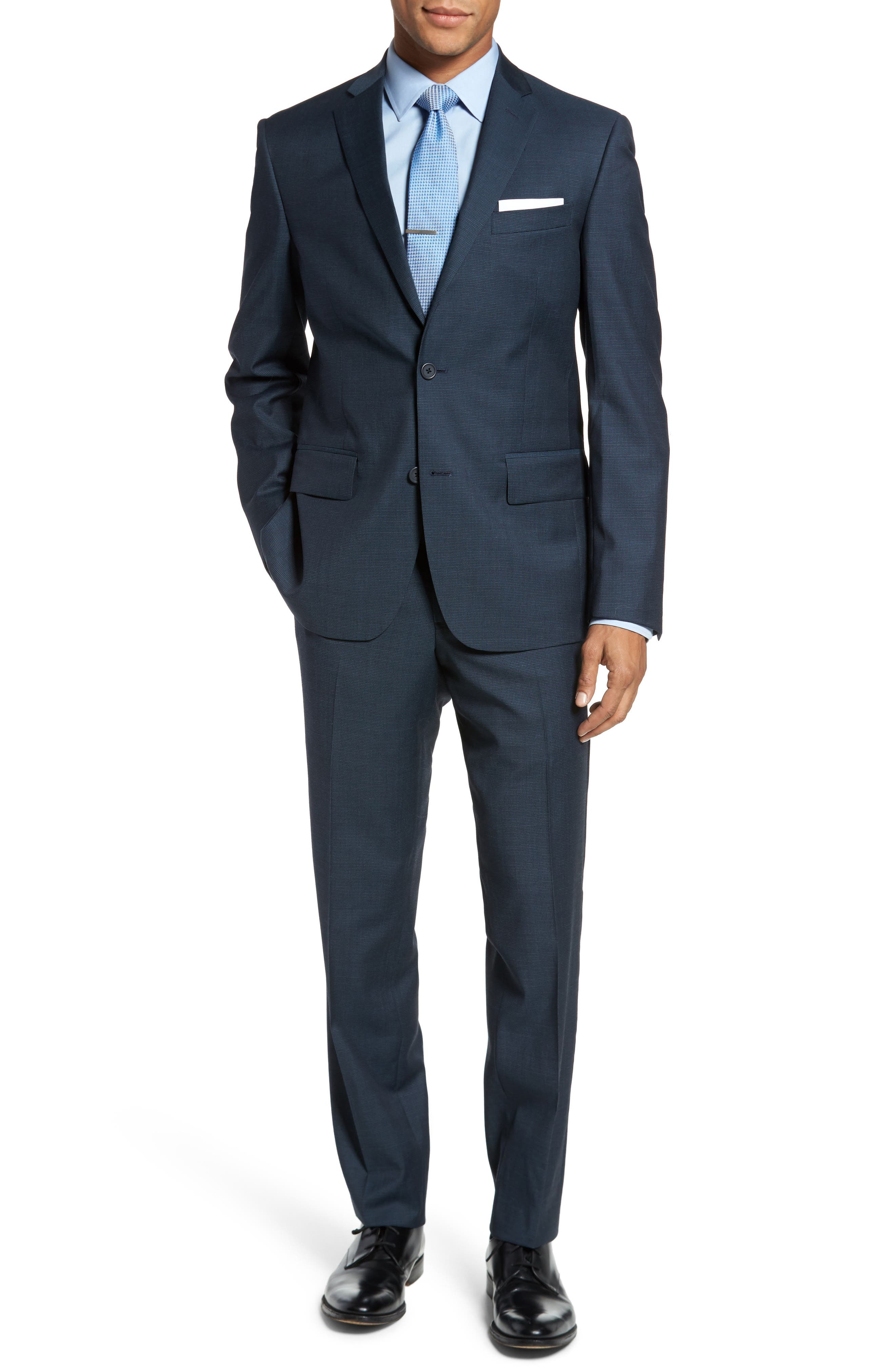 Classic Fit Check Wool Suit,                             Main thumbnail 4, color,