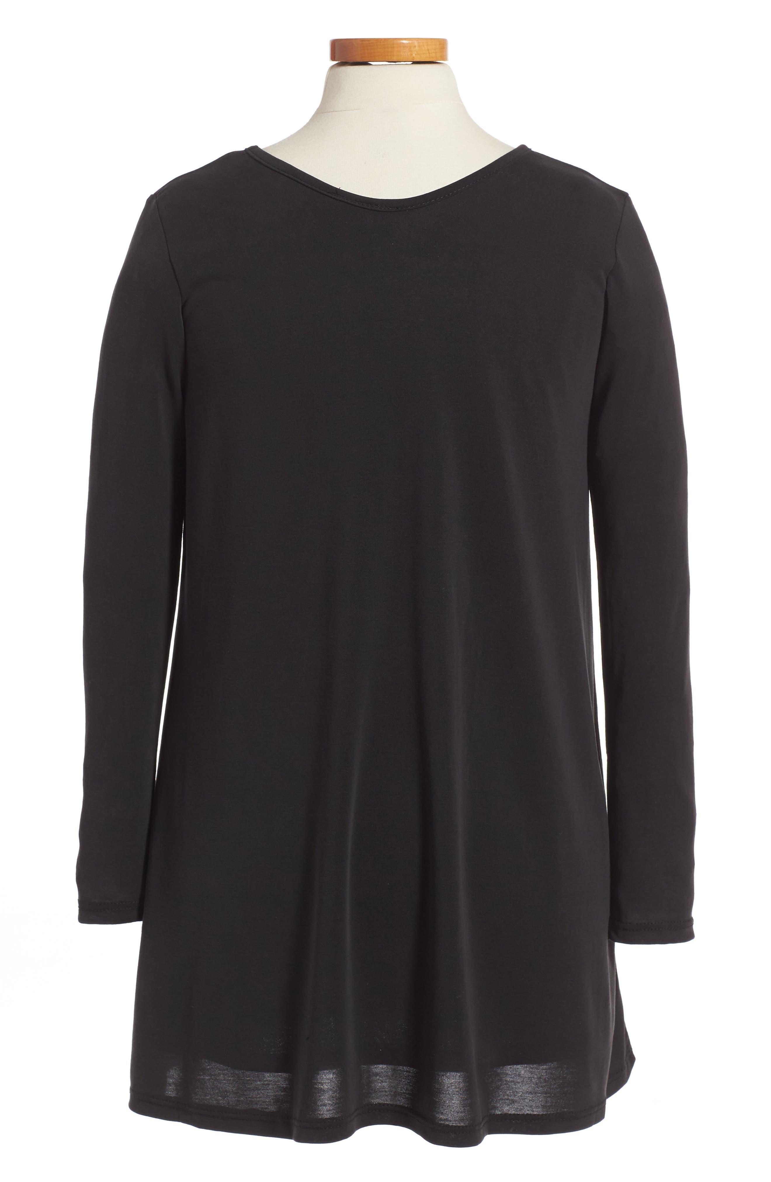 Cross Front Knit Dress,                             Alternate thumbnail 2, color,                             002