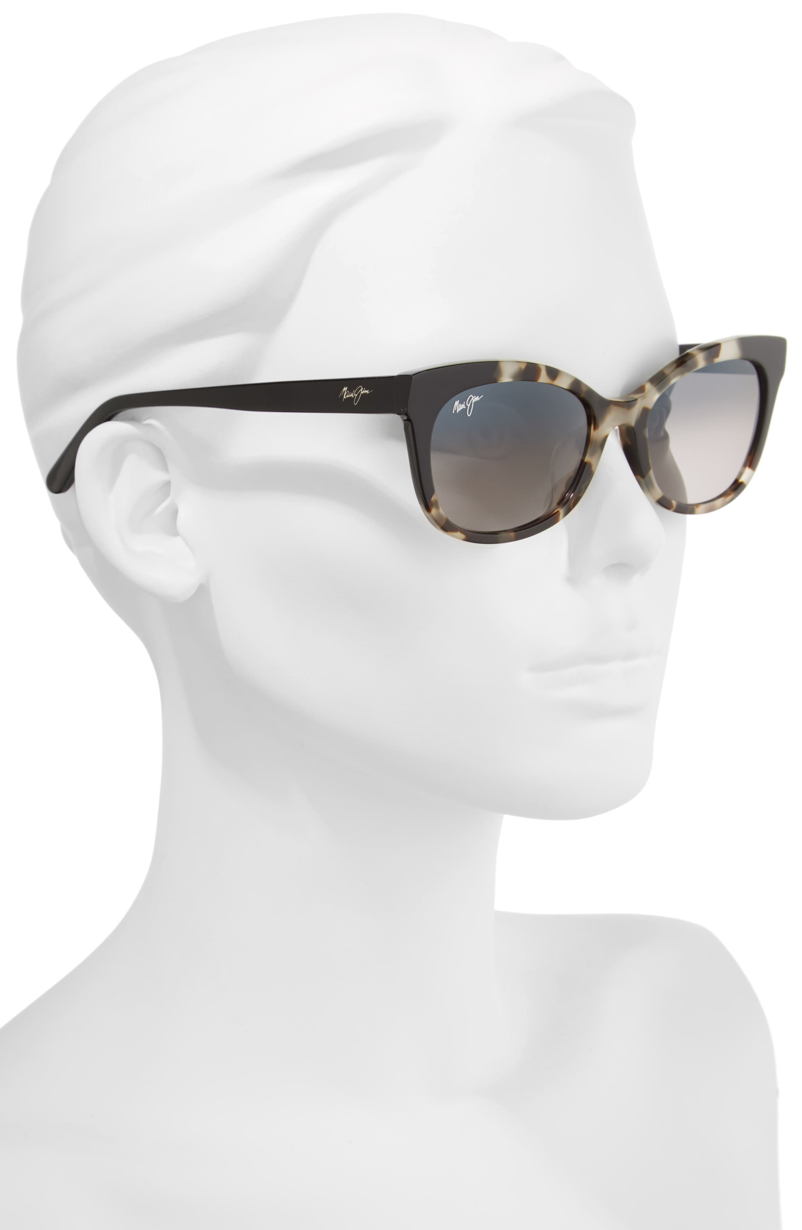 Ilima 53mm PolarizedPlus2<sup>®</sup> Cat Eye Sunglasses,                             Alternate thumbnail 2, color,                             WHITE TOKYO/ GLOSS BLACK
