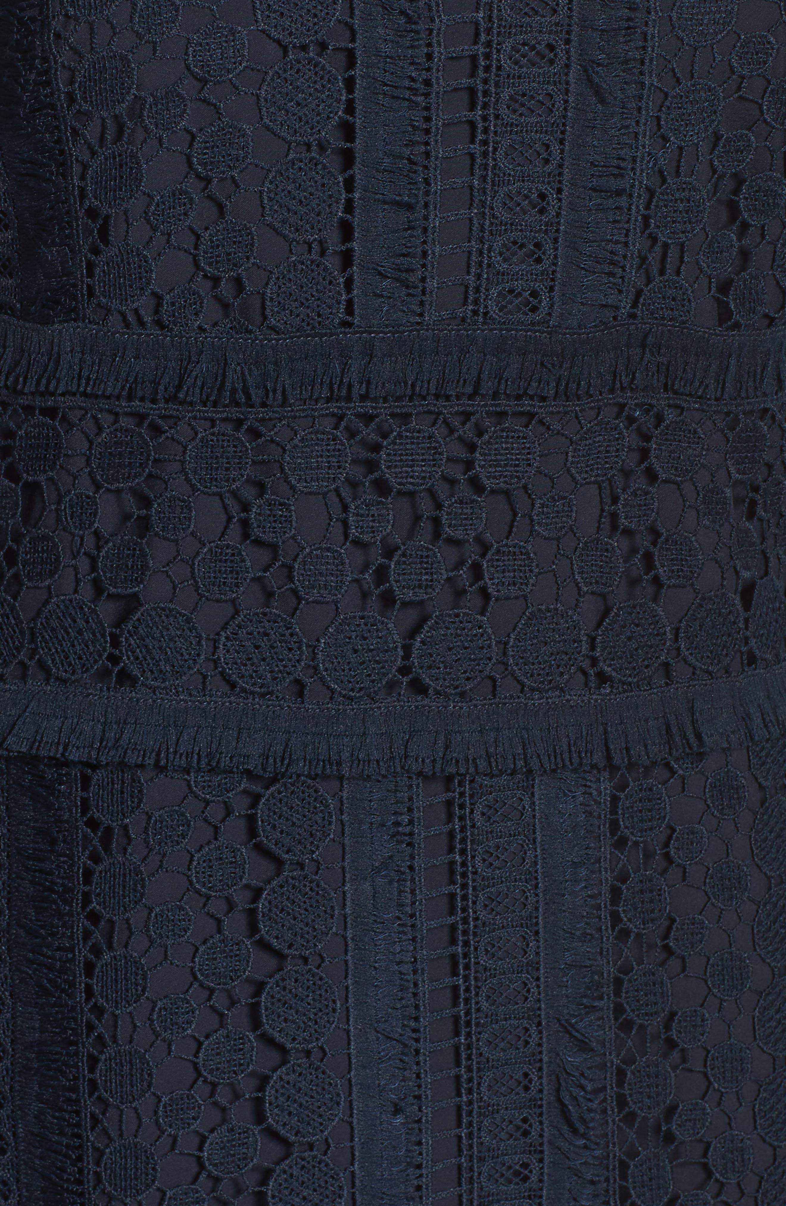 Lace Sheath Dress,                             Alternate thumbnail 5, color,                             419