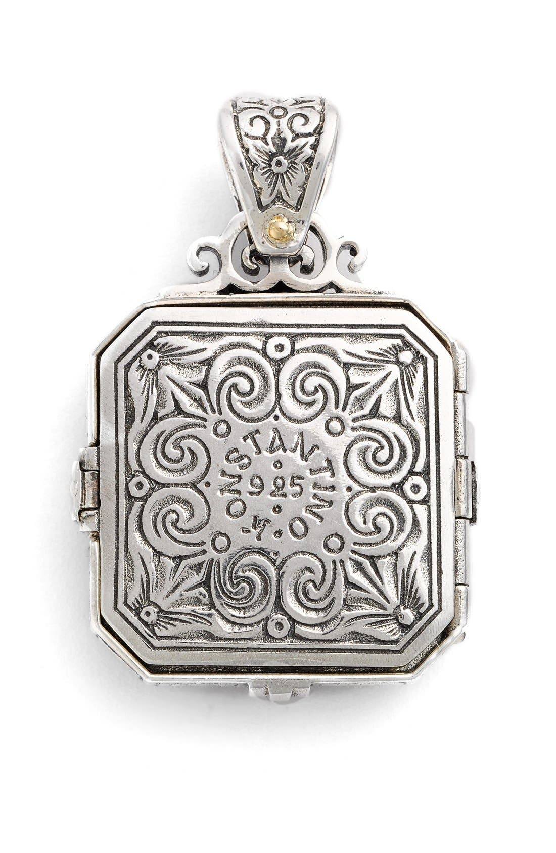 'Penelope' Bee Locket Pendant,                             Alternate thumbnail 3, color,                             SILVER/ GOLD